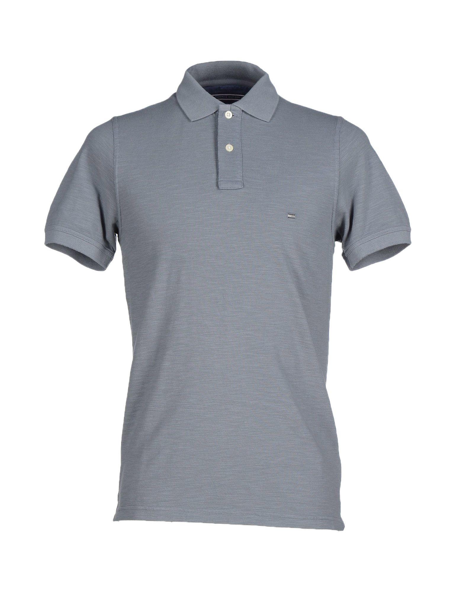 lyst tommy hilfiger polo shirt in gray for men. Black Bedroom Furniture Sets. Home Design Ideas