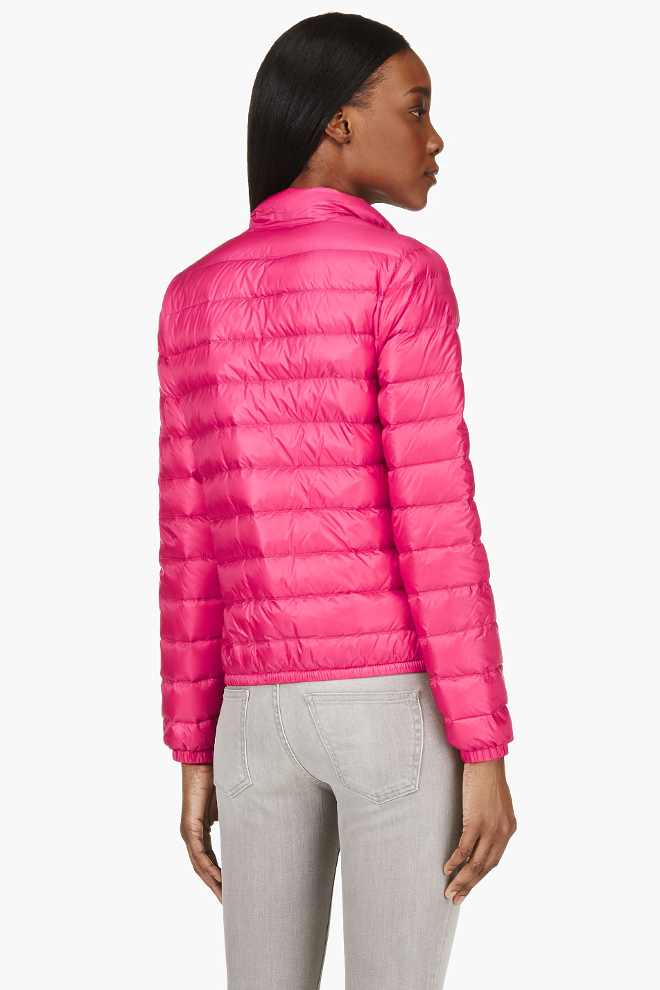 233bf070a243 Lyst - Moncler Fuchsia Quilted Down Lans Jacket in Pink