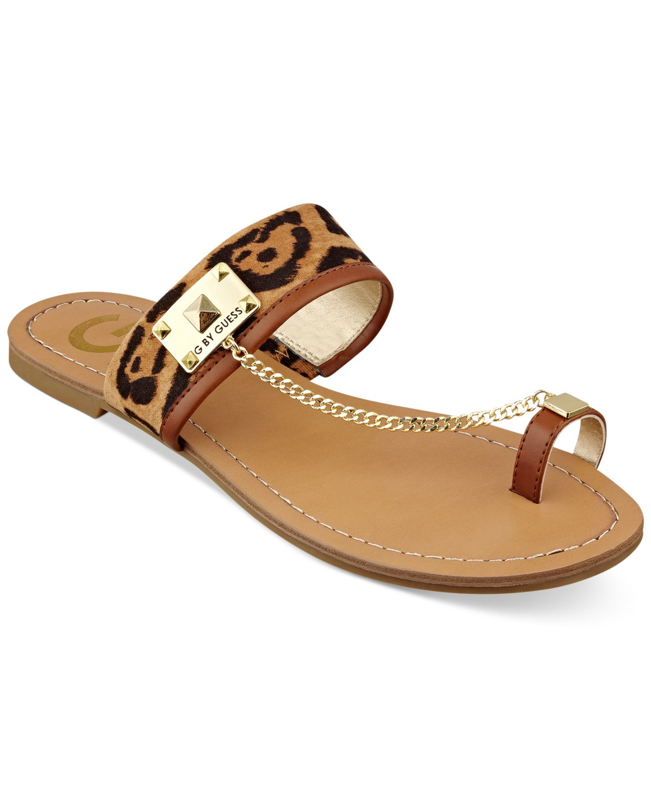 a2089f4d3231 Lyst - G by Guess Women S Lucia Toe Ring Flat Sandals