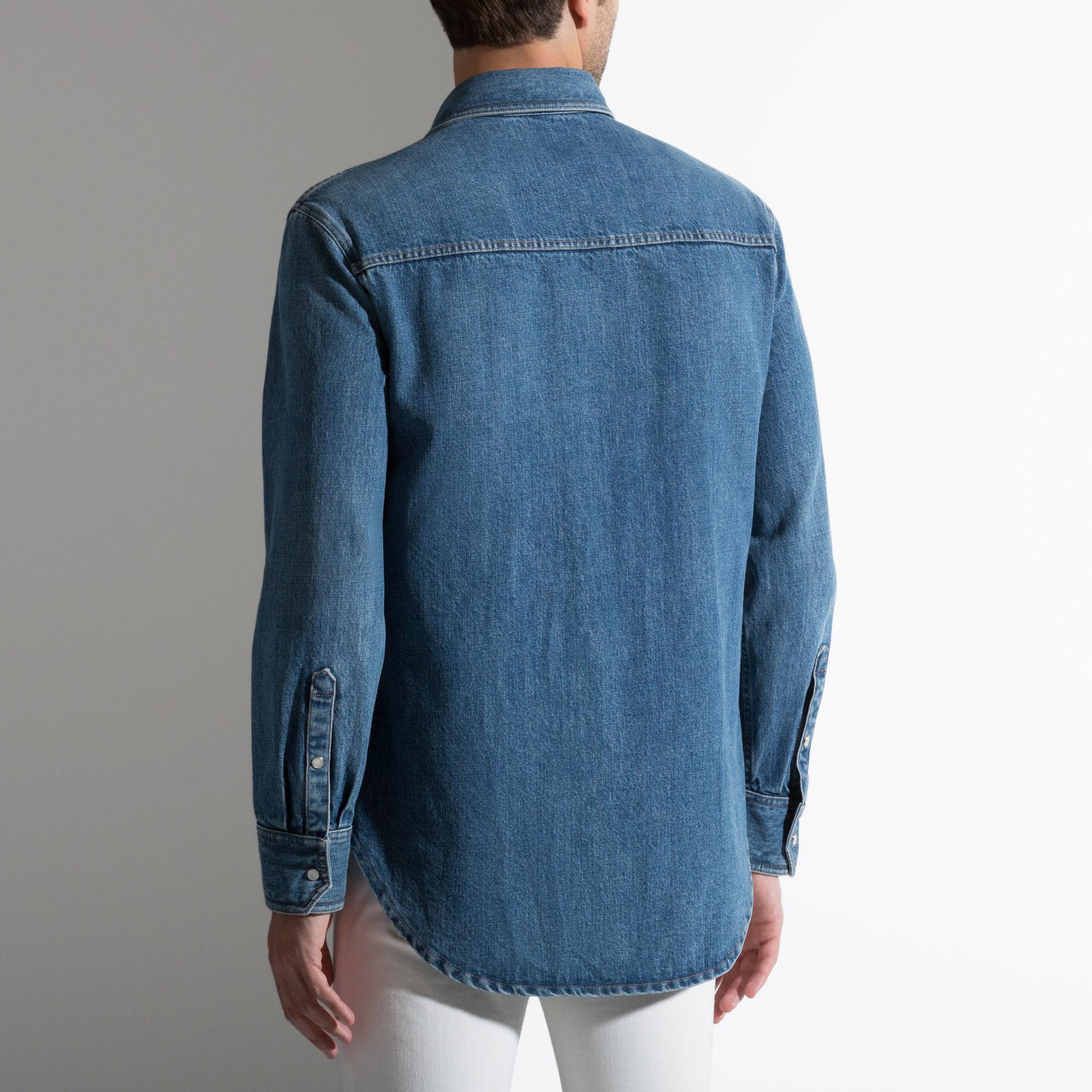 Bally Cotton Shirt Men S Light Blue Cotton Shirt In Blue