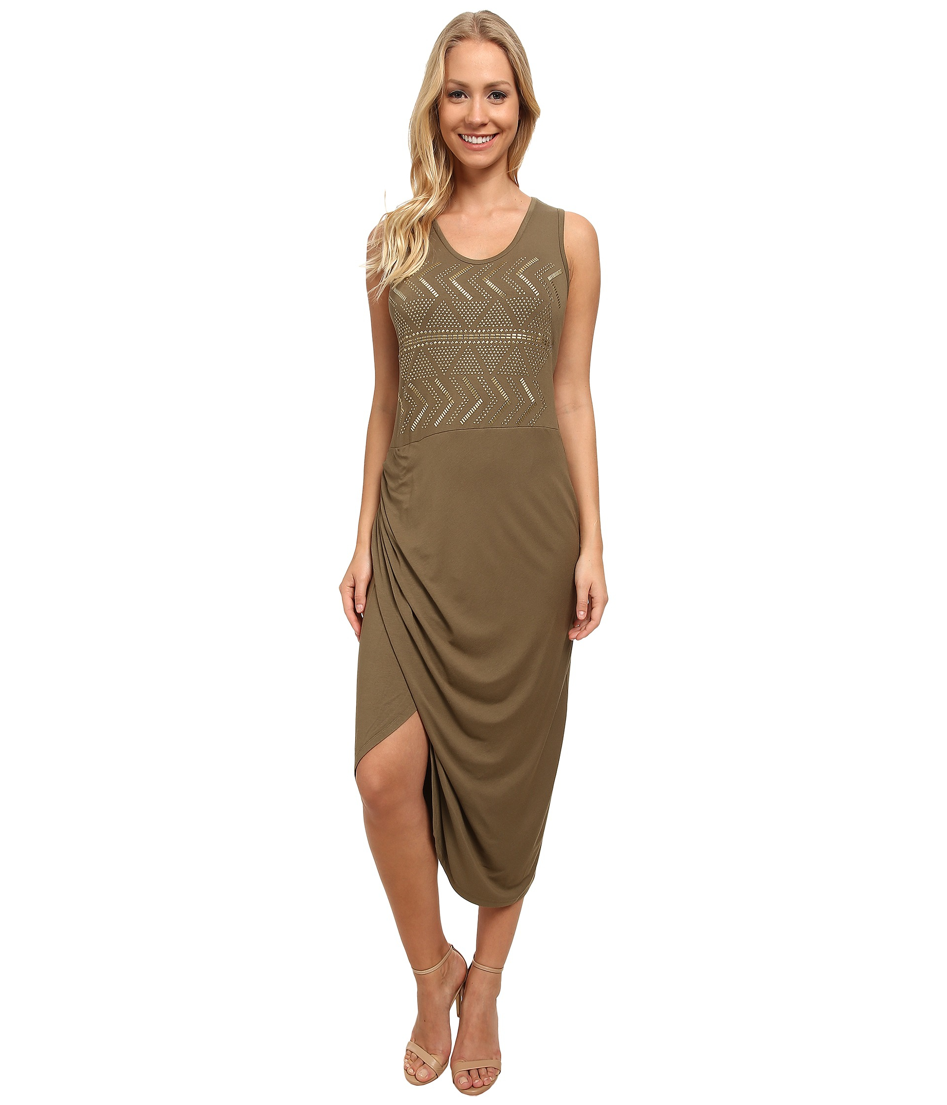 Vince Camuto Sleeveless Wrap Front Tank Dress W