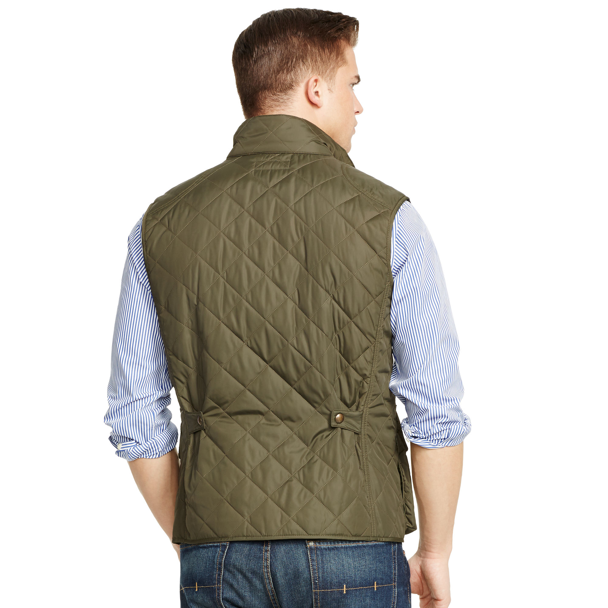 Polo Ralph Lauren Diamond Quilted Vest In Green For Men