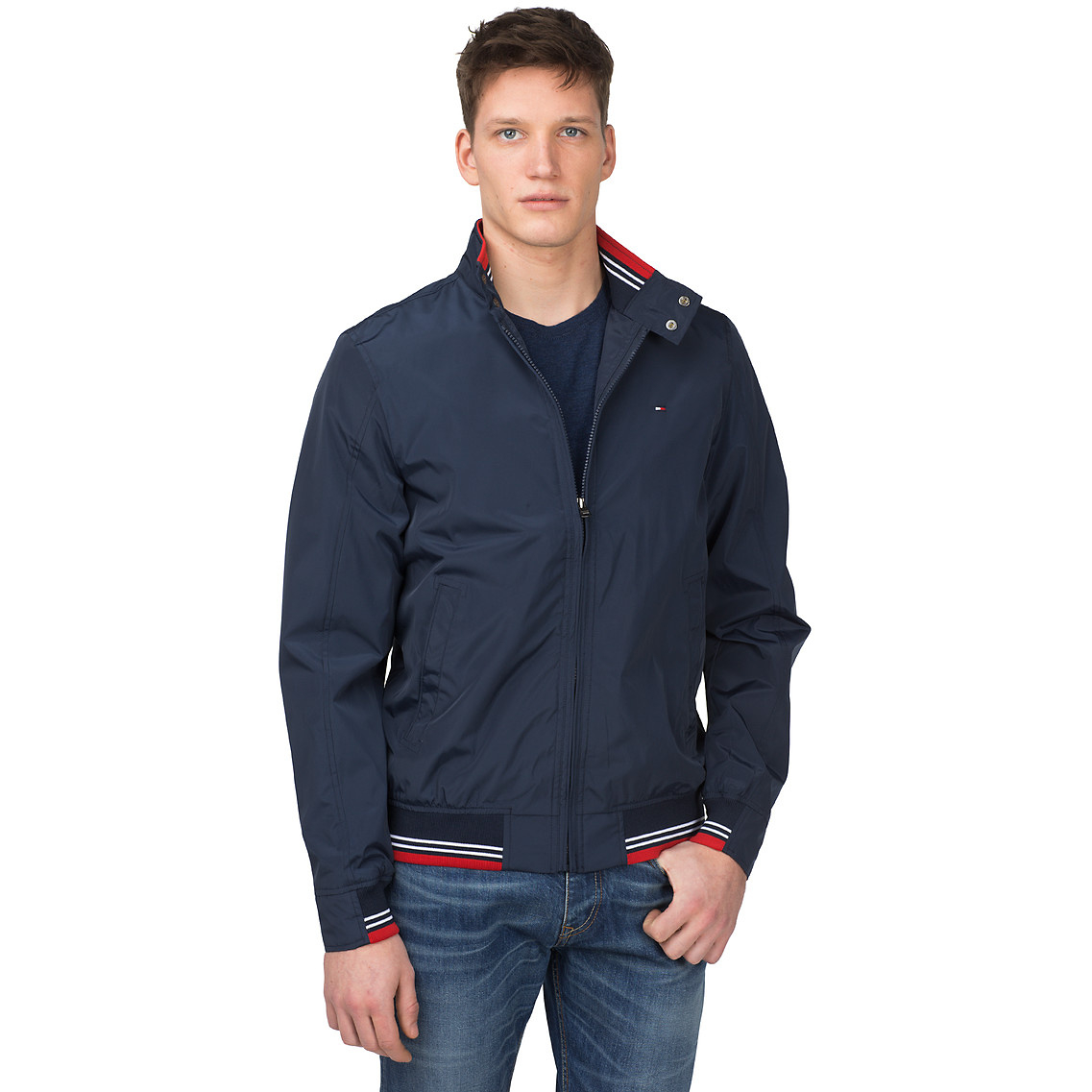 Tommy Hilfiger Chase Bomber Jacket in Blue for Men - Lyst