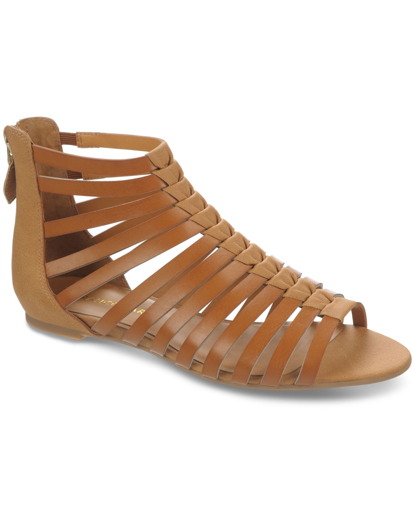 c2b7ba93235a Lyst - Franco Sarto Atrium Gladiator Sandals in Brown