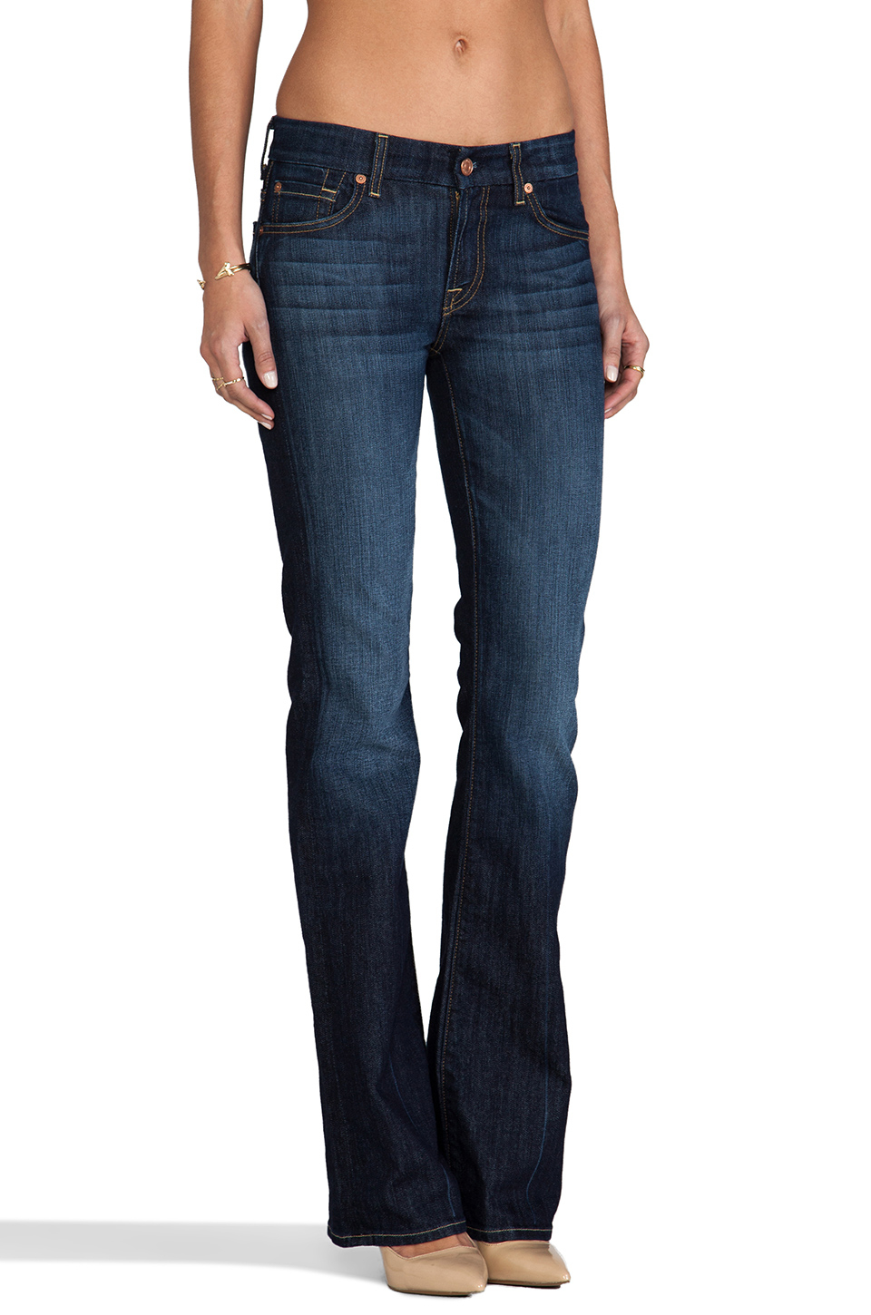 lyst 7 for all mankind kimmie bootcut in blue. Black Bedroom Furniture Sets. Home Design Ideas
