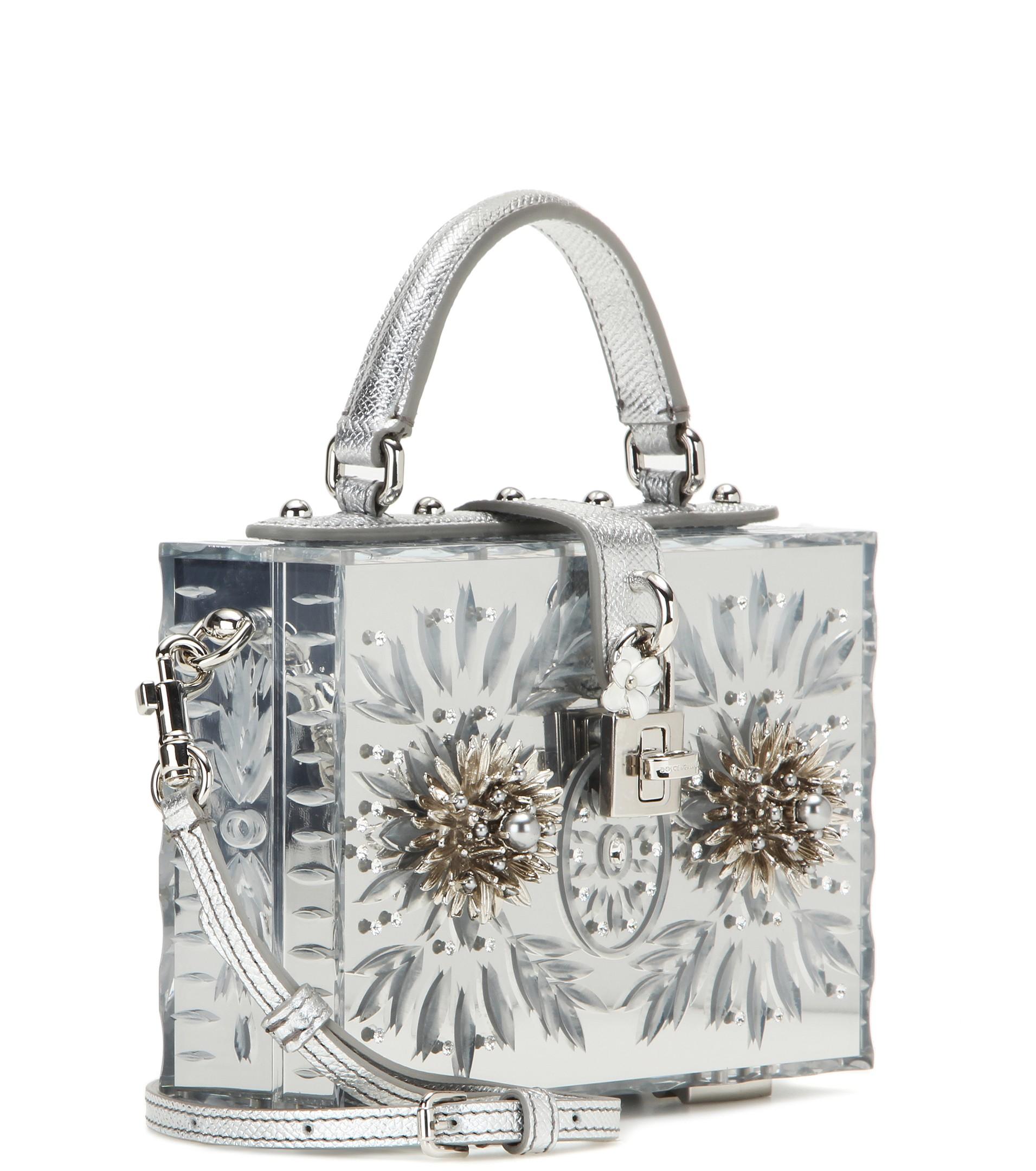 5bf7d133653f Lyst - Dolce   Gabbana Dolce Cinderella Embellished Shoulder Bag in Metallic