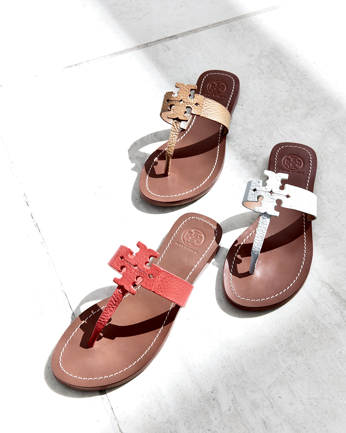 21add4304b2 Lyst - Tory Burch Moore Leather Thong Sandal in Brown