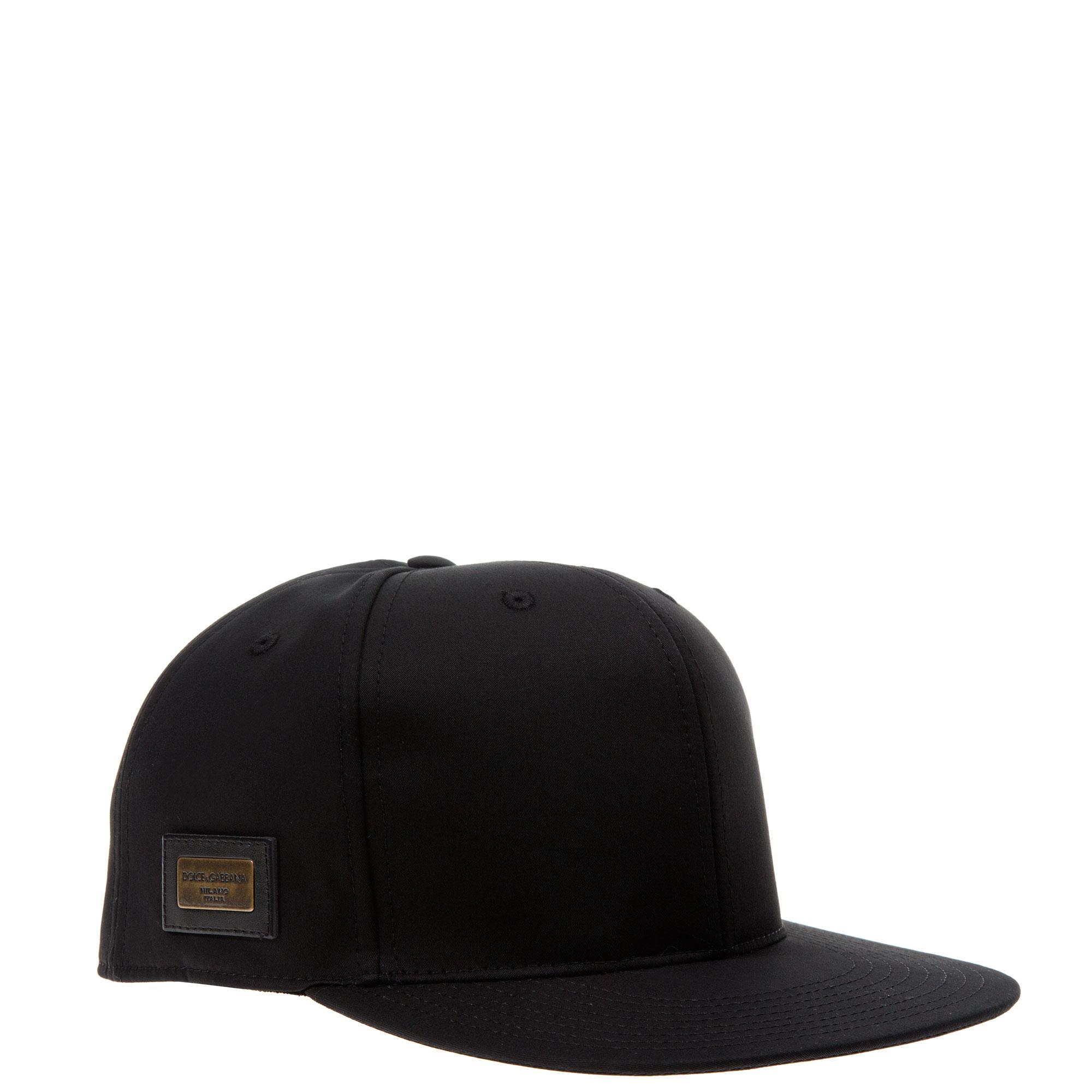 Lyst - Dolce   Gabbana Black Flat-brimmed Hat in Black for Men d59fcbfe33d