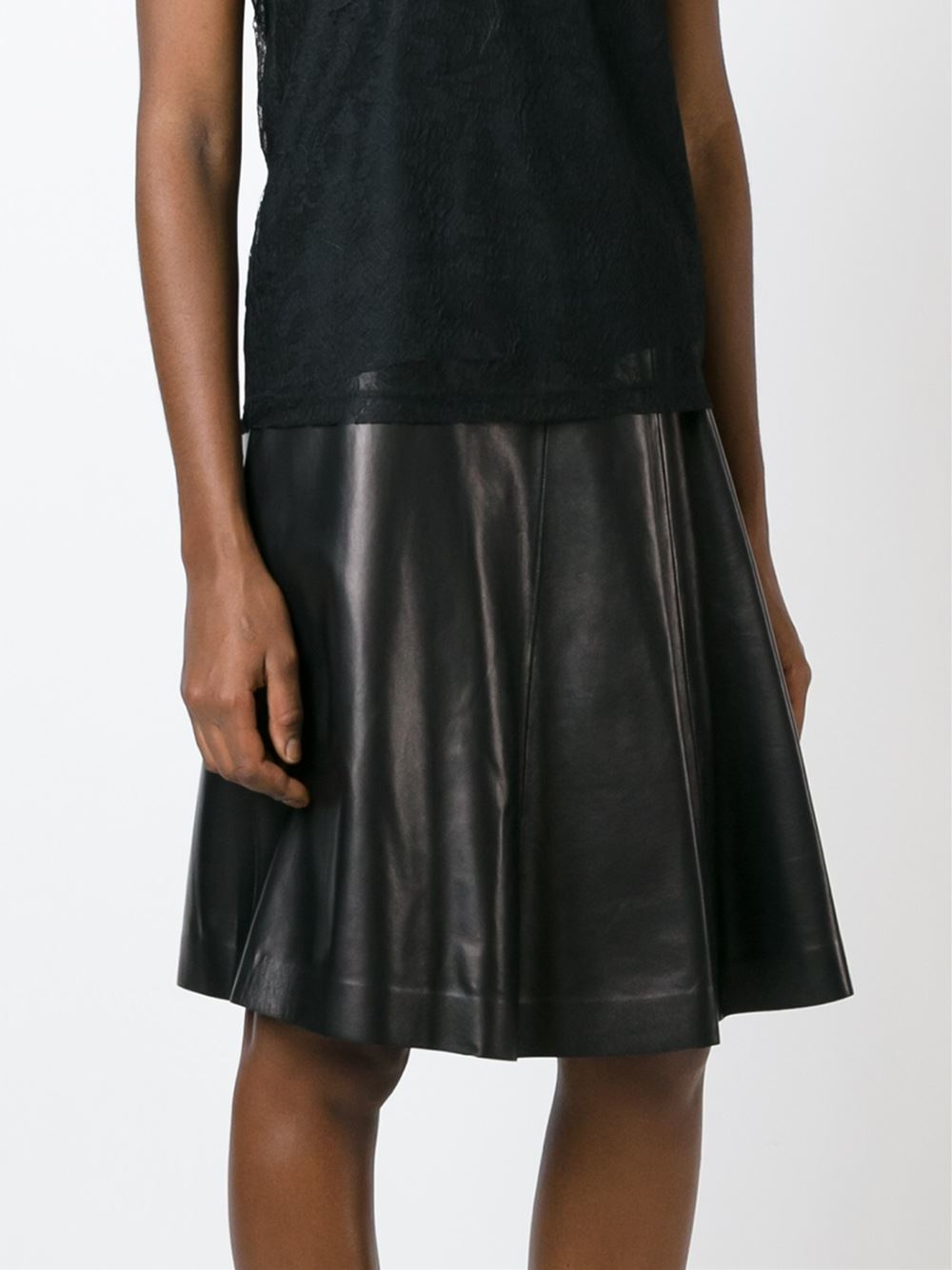 burberry flared a line skirt in black lyst