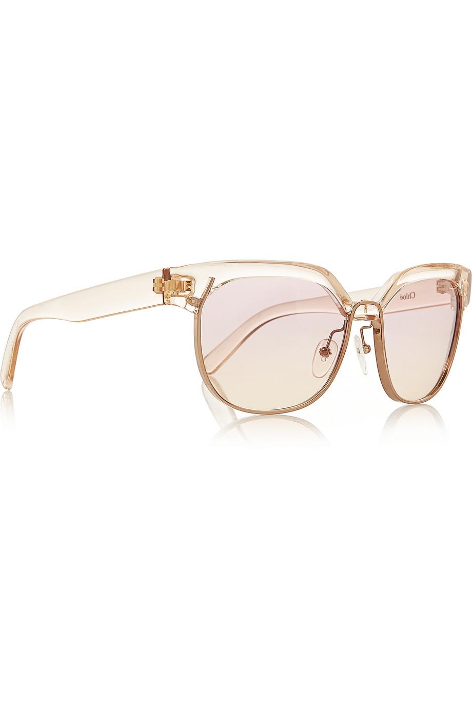 5bd12404cb9 Chloé Dafne D-Frame Acetate Sunglasses in Metallic - Lyst