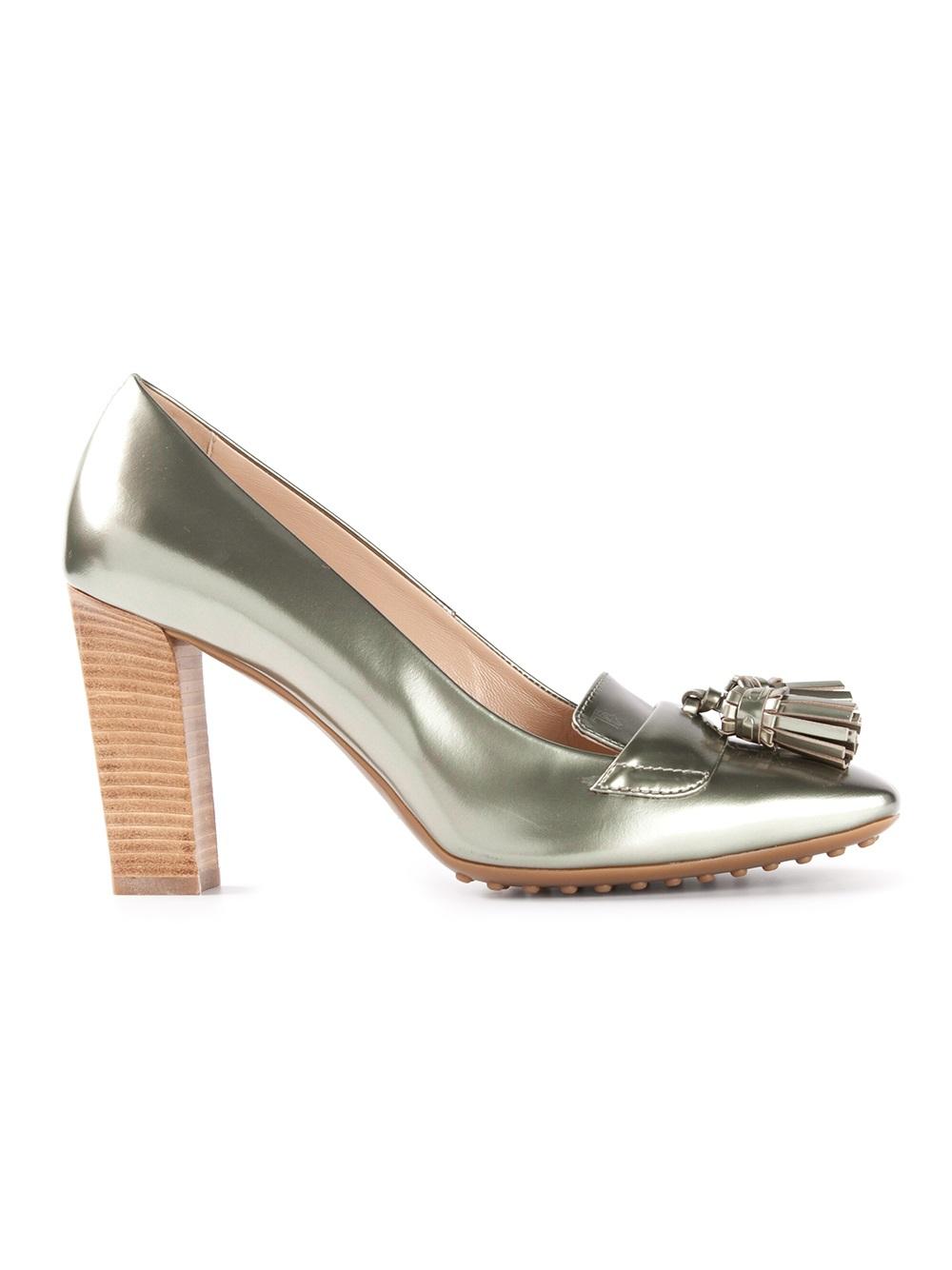 studded heel pumps - Metallic Tod's 5YIpkLM6