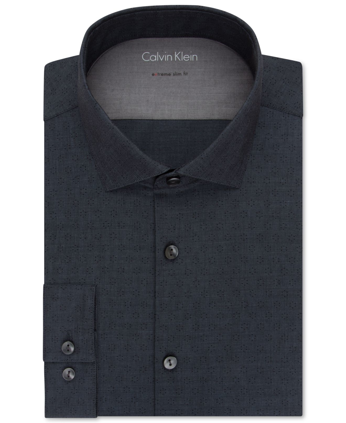 Lyst calvin klein x extra slim fit petrol patterned for Calvin klein x fit dress shirt