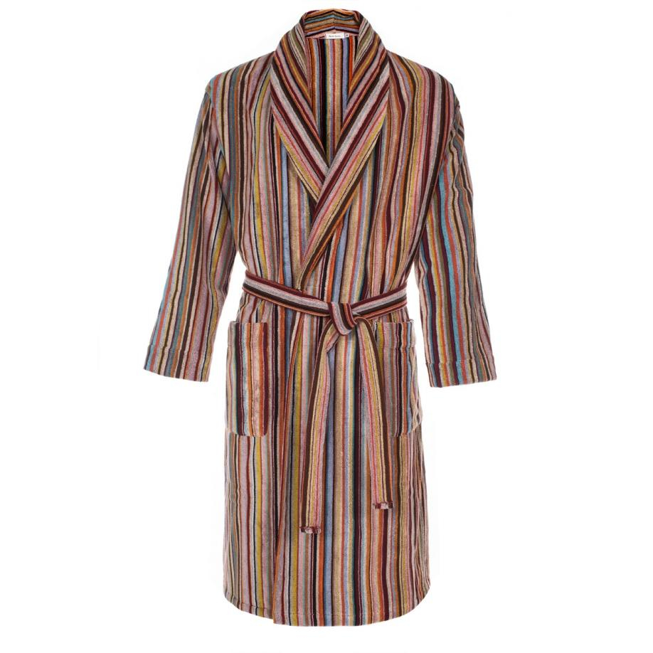 Dressing Gowns And Robes: Paul Smith Cotton Men's Signature Striped Towelling