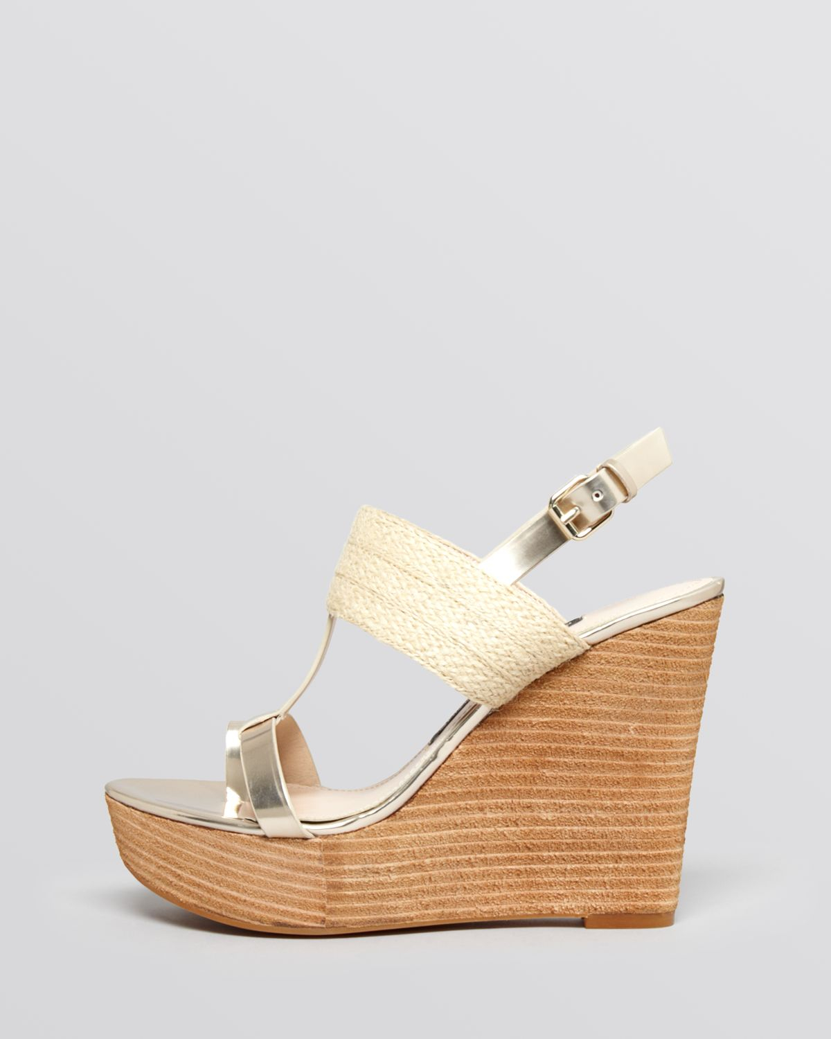 8757eb2c9d60 Lyst - French Connection Platform Wedge Sandals - Deisree in Natural