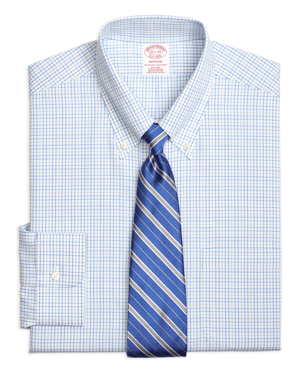 Brooks brothers non iron madison fit alternating for Brooks brothers non iron shirts review