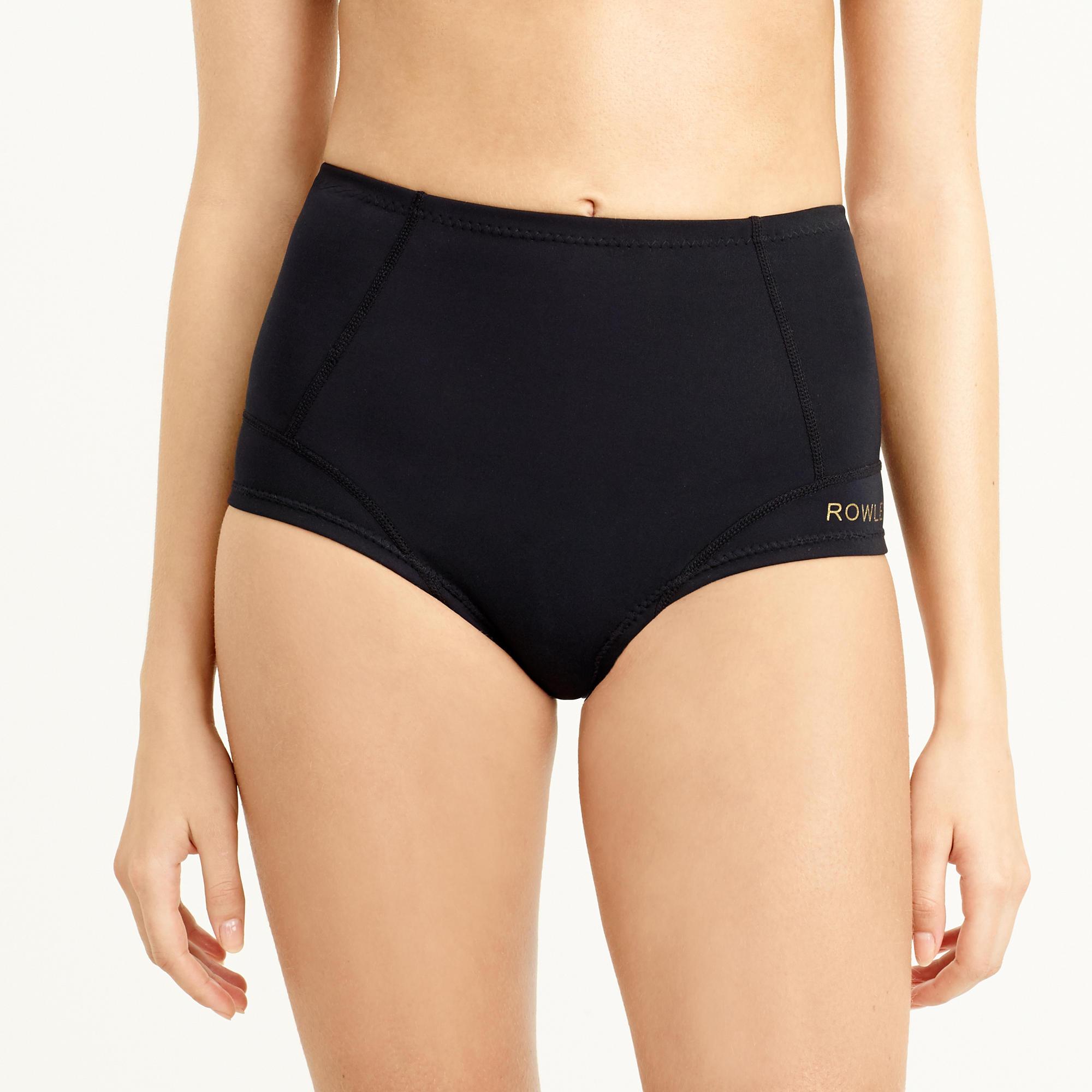e78aec9639e Lyst - J.Crew Cynthia Rowley High-waisted Bikini Bottom in Black