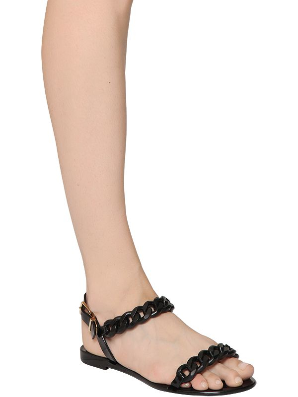 689f4ddd05ce Givenchy Chain-Link Jelly Sandals