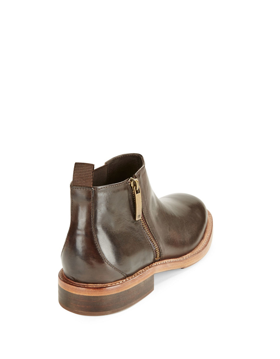 donald j pliner zeus leather chelsea boots in brown for