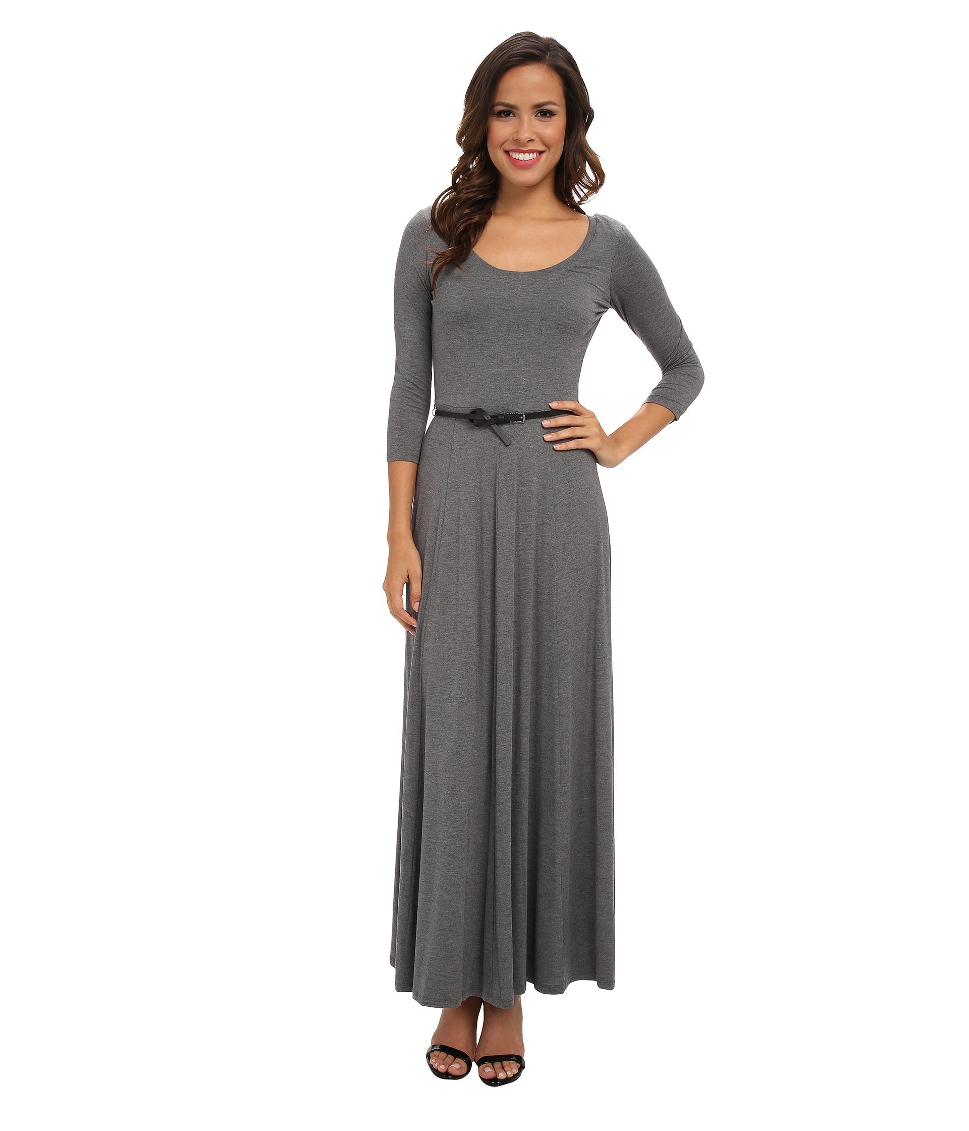 Gray Rayon Dress