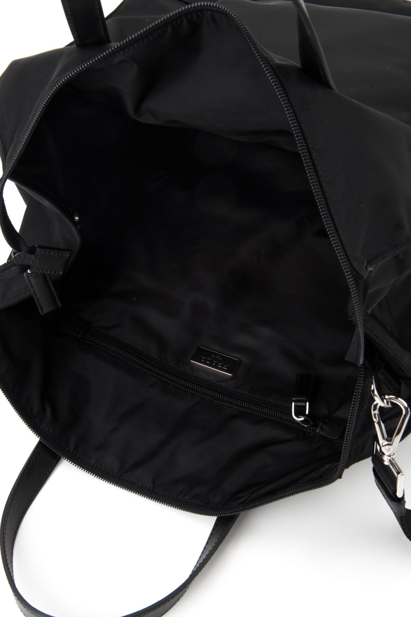 c44d447cc6a6cb Prada Twill And Saffiano Travel Bag in Black for Men (NERO)   Lyst