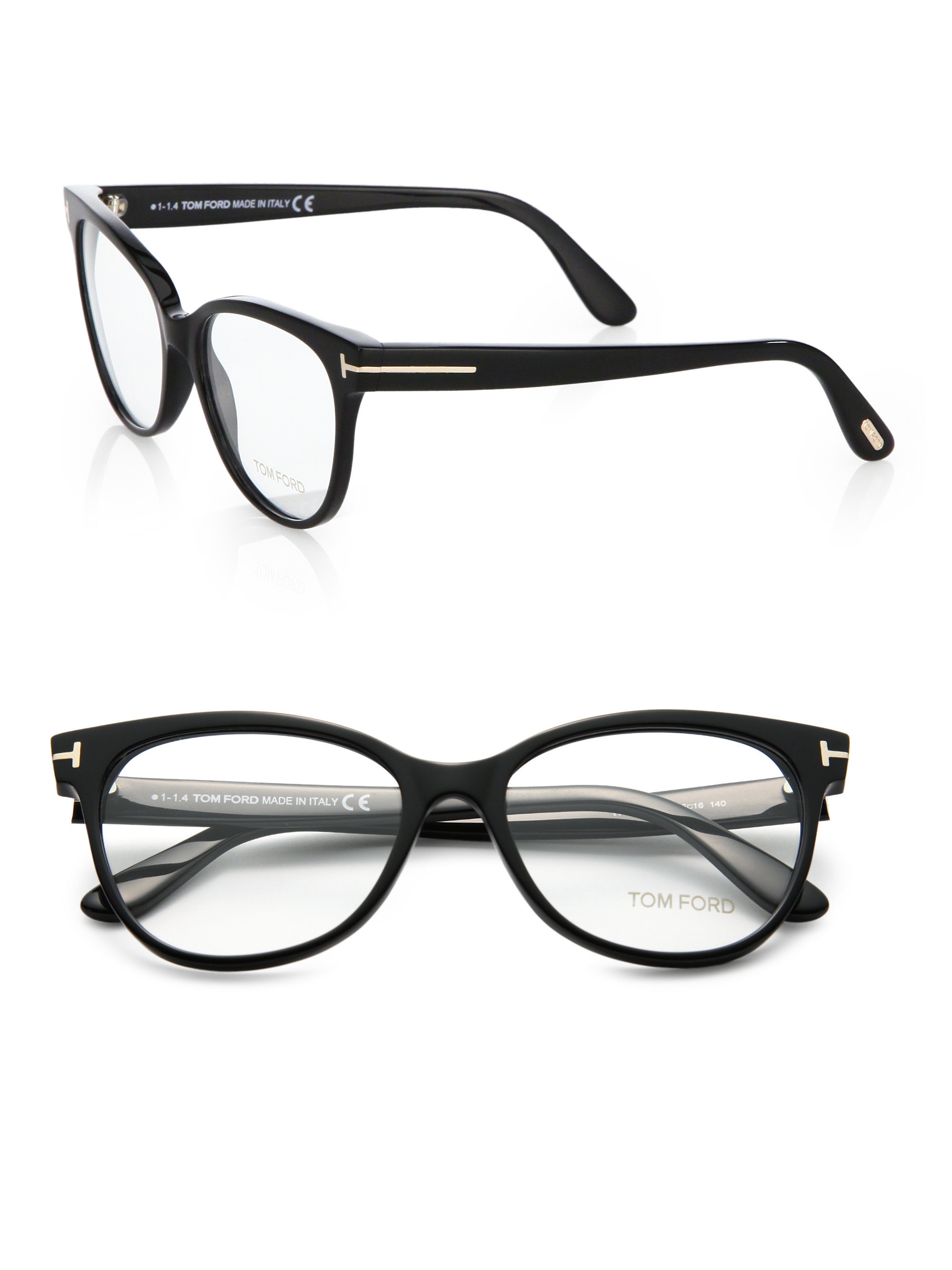 Lyst Tom Ford Plastic Optical Glasses In Black