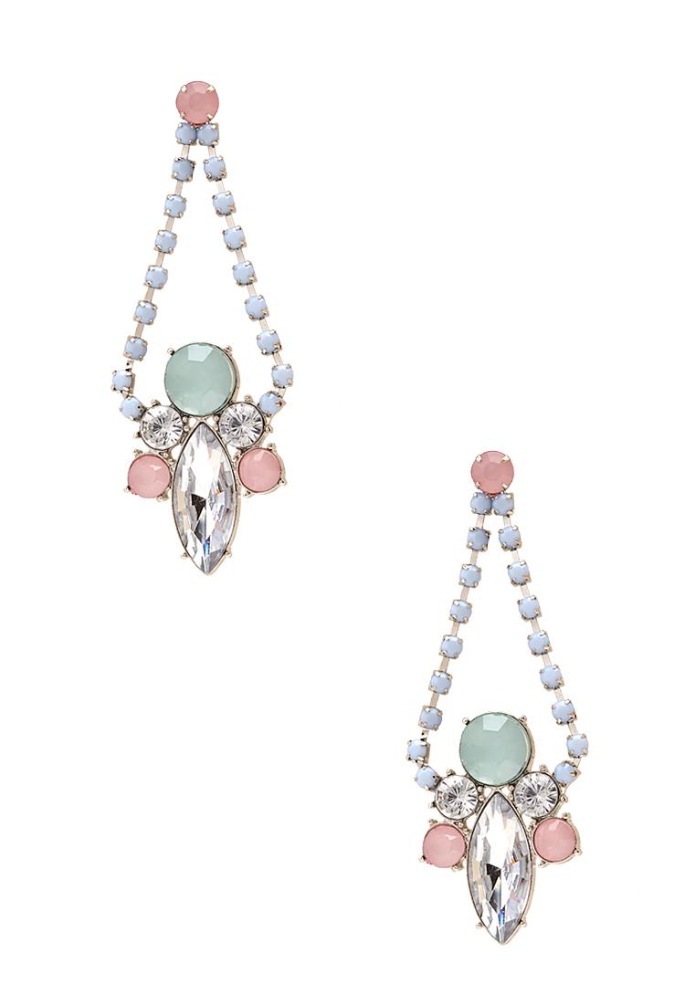 Forever 21 pastel chandelier earrings lyst for Forever 21 jewelry earrings