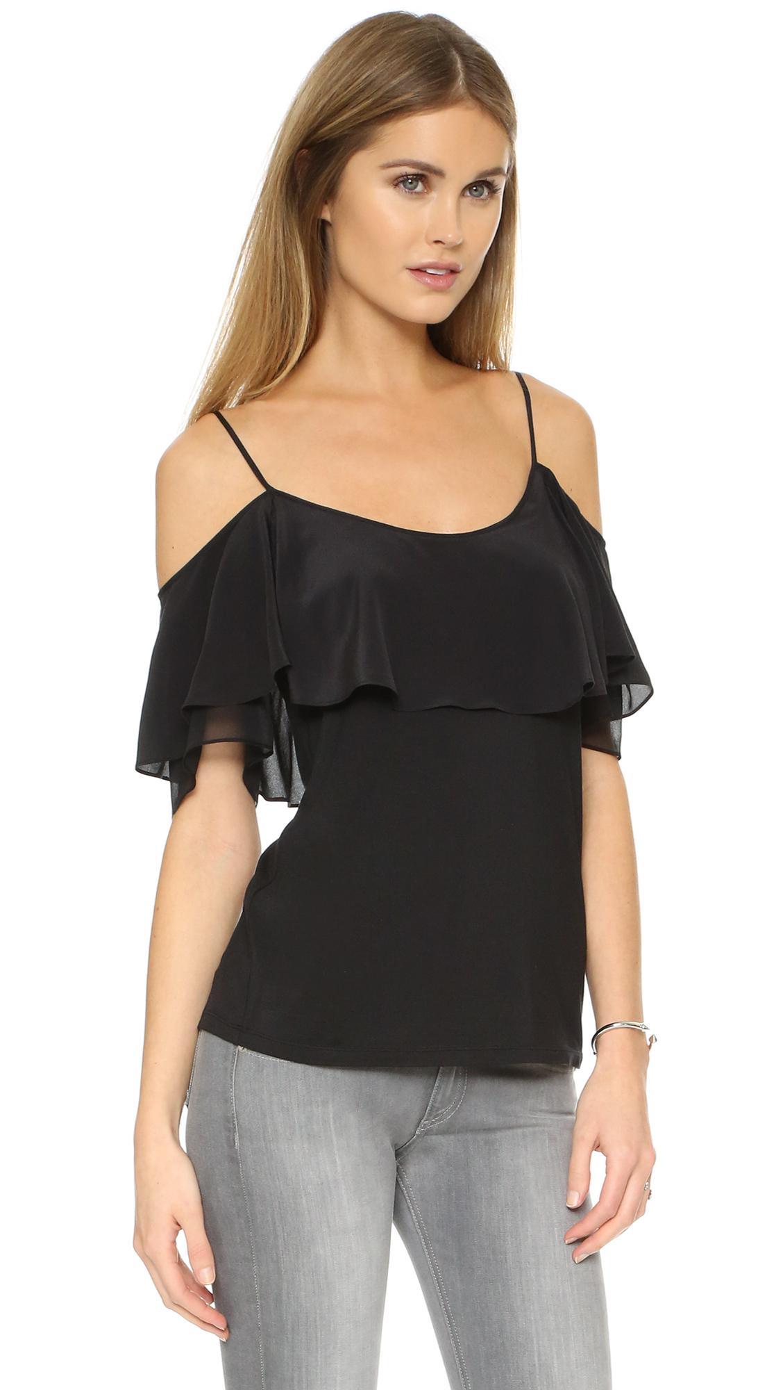 928a690eee41 Lyst - Ella Moss Bella Off Shoulder Blouse in Black