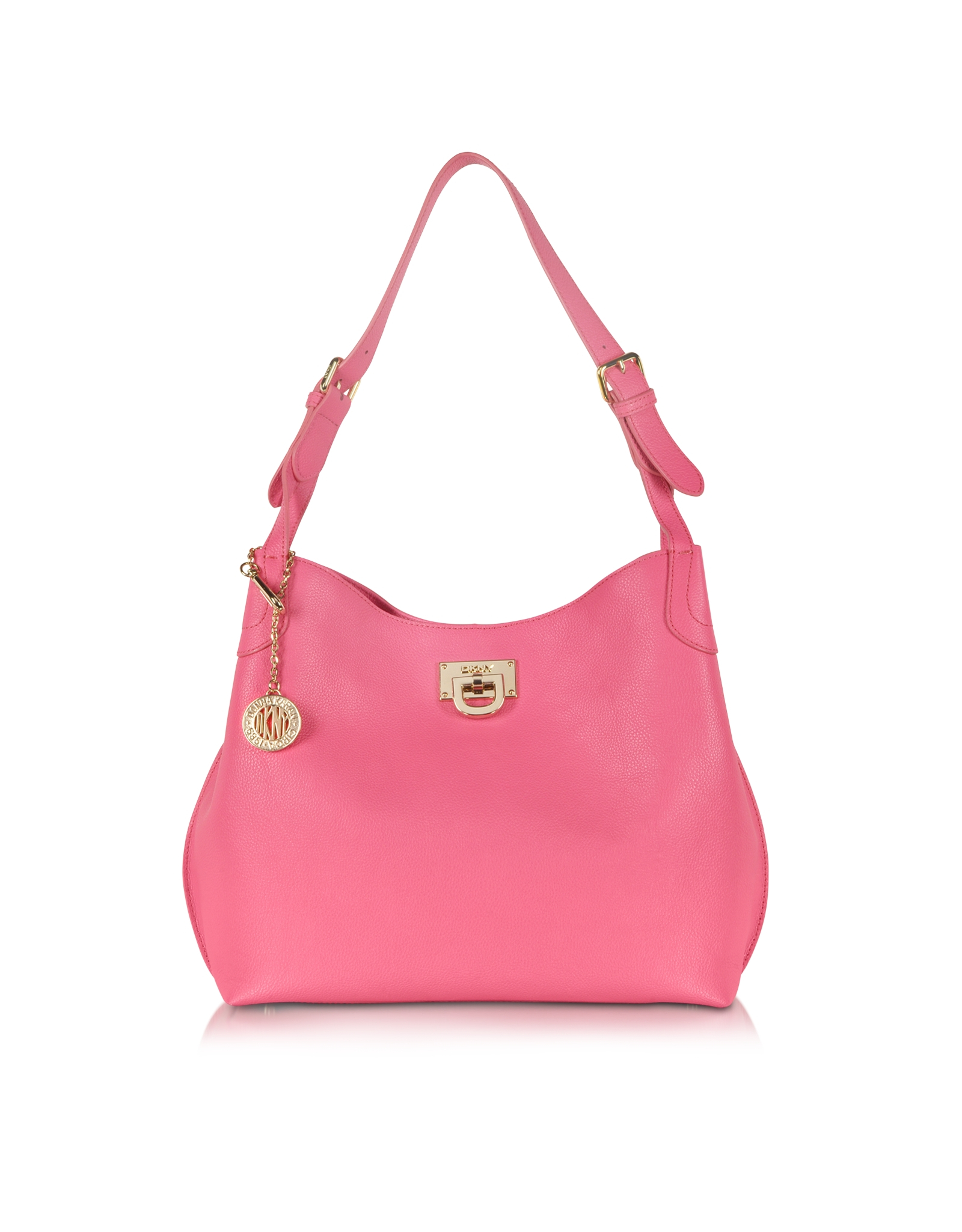 Dkny Chelsea Leather Hobo Bag in Pink | Lyst