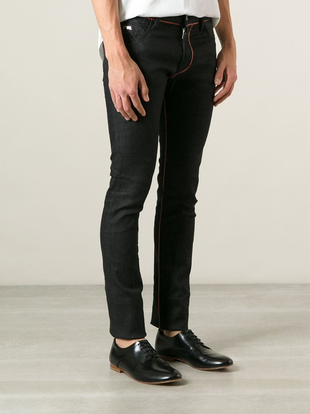27924d2b Emporio Armani Black Skinny Jeans for men