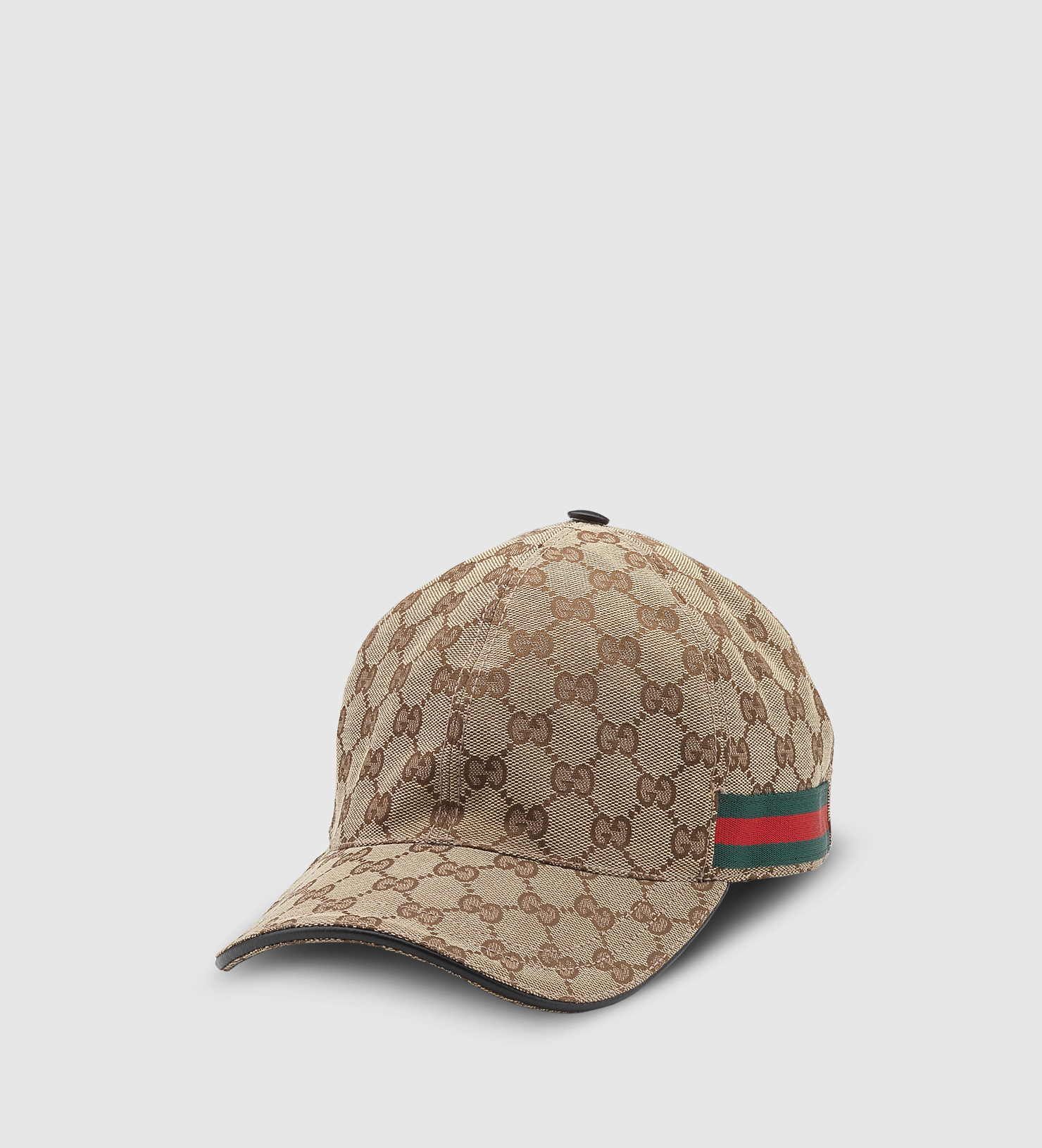 7f1eff19e98 Gucci Original Gg Canvas Baseball Hat With Web in Natural for Men - Lyst