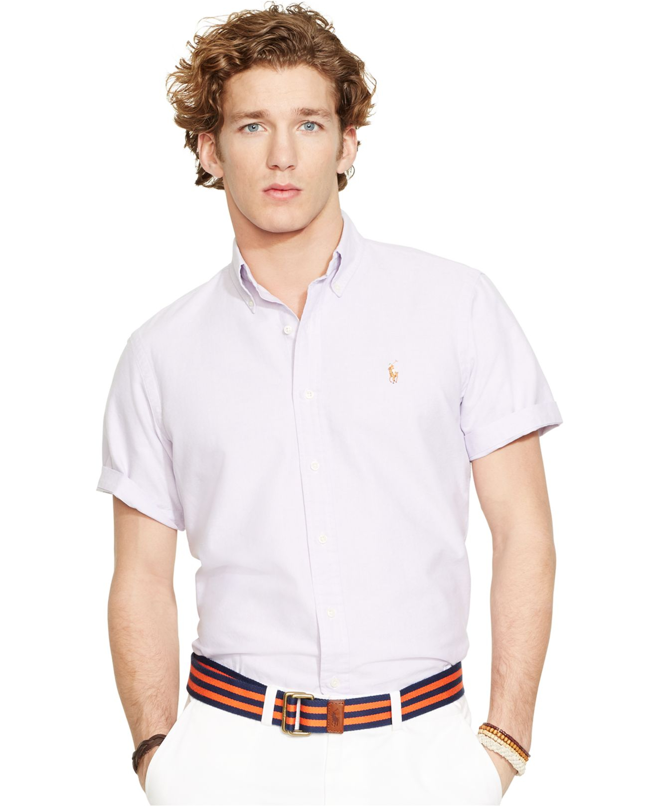 Lyst Polo Ralph Lauren Men 39 S Short Sleeved Oxford Shirt