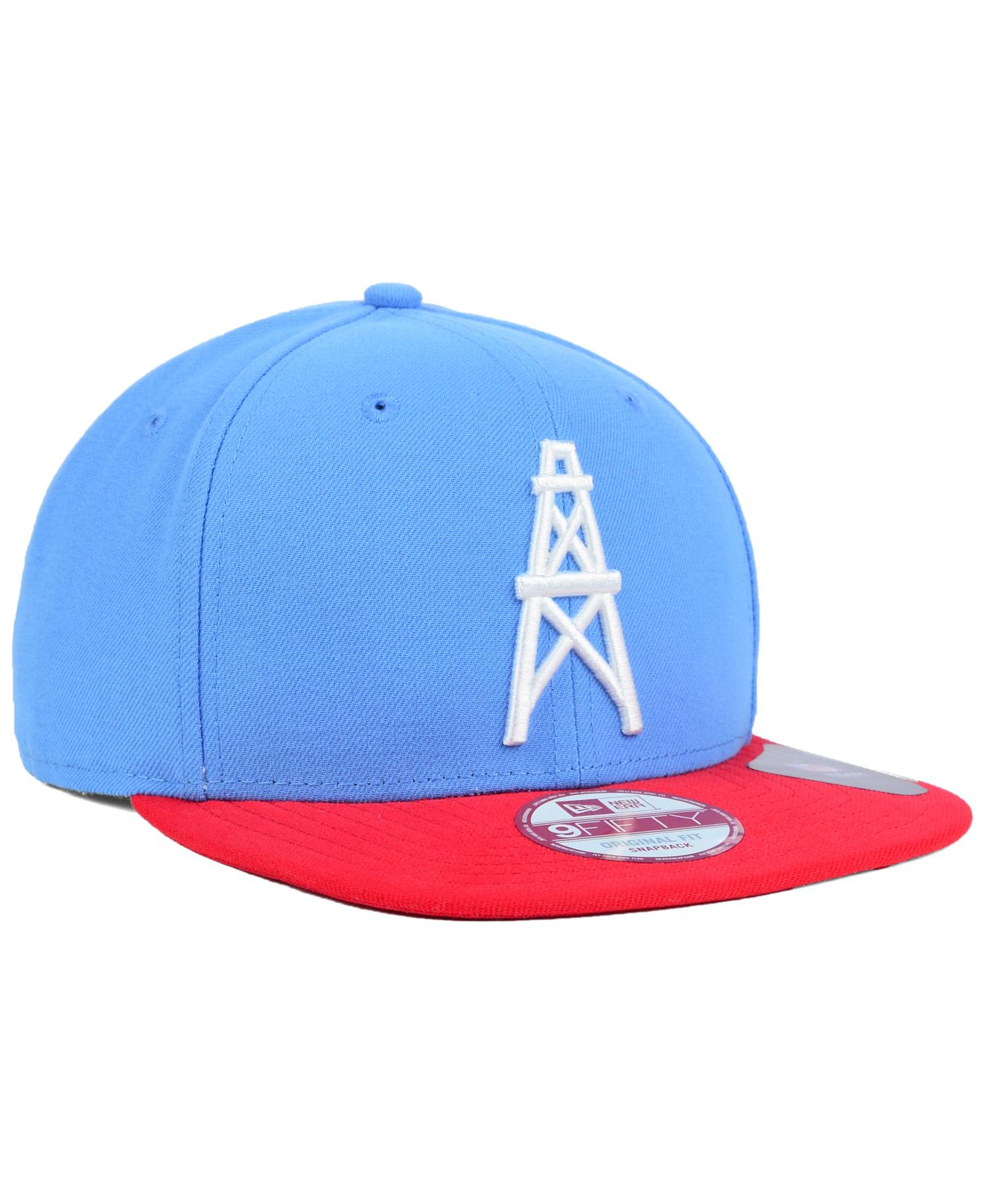 f0d40db051d Lyst - Ktz Houston Oilers Basic 9fifty Snapback Cap in Red for Men