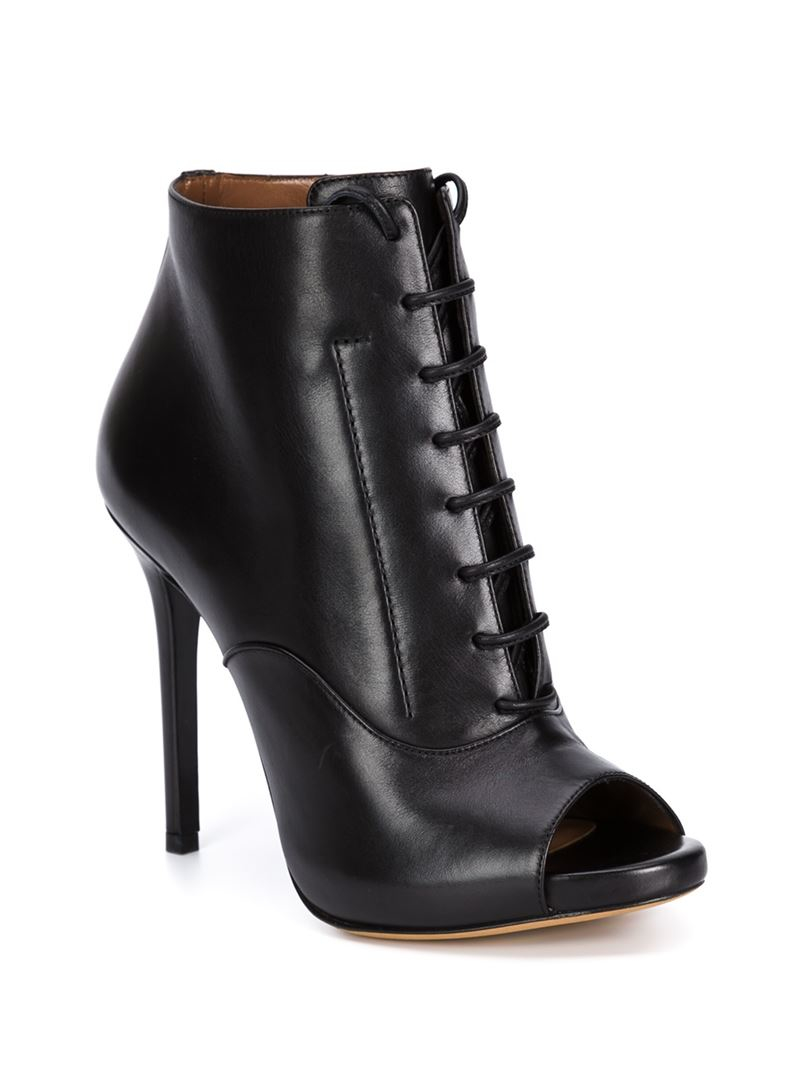Tabitha Simmons 'Pace' Lace-Up Booties in Black