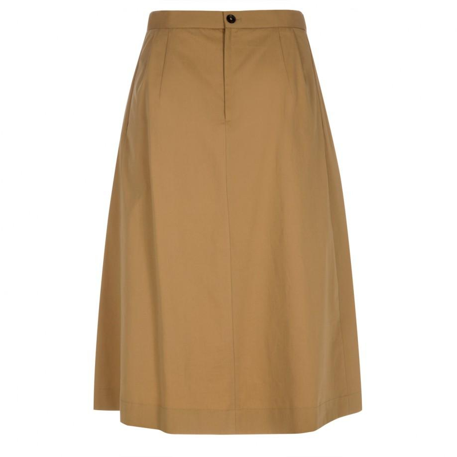 paul smith s cotton pleated skirt in brown