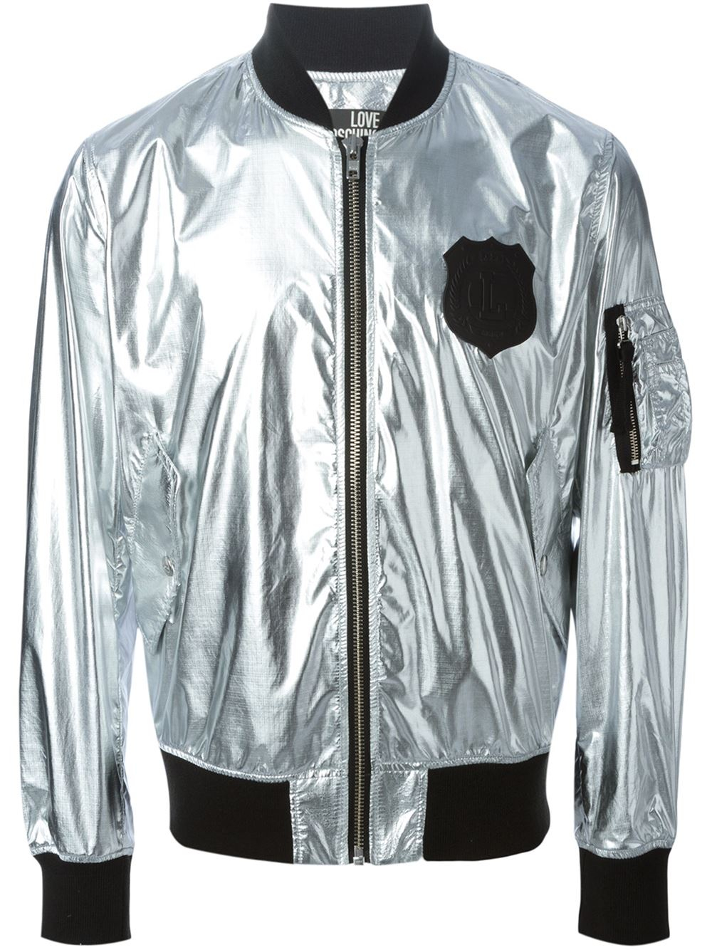 fcf42b769a8a6 Love Moschino Metallic Bomber Jacket in Metallic for Men - Lyst