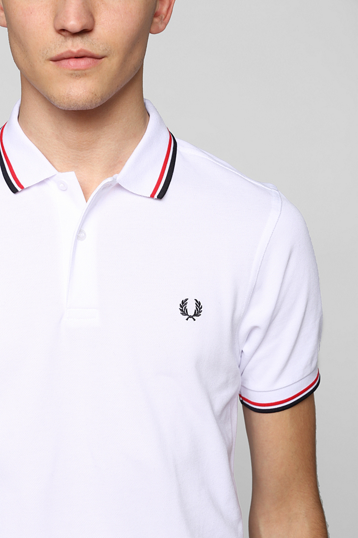 Fred Perry Authentic Polo Shirt in White for Men - Lyst