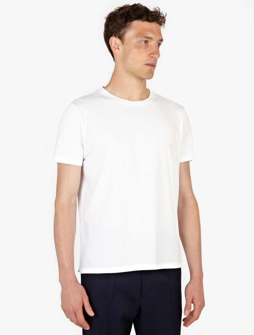 Valentino white cotton t shirt in white for men lyst for Mens white cotton t shirts