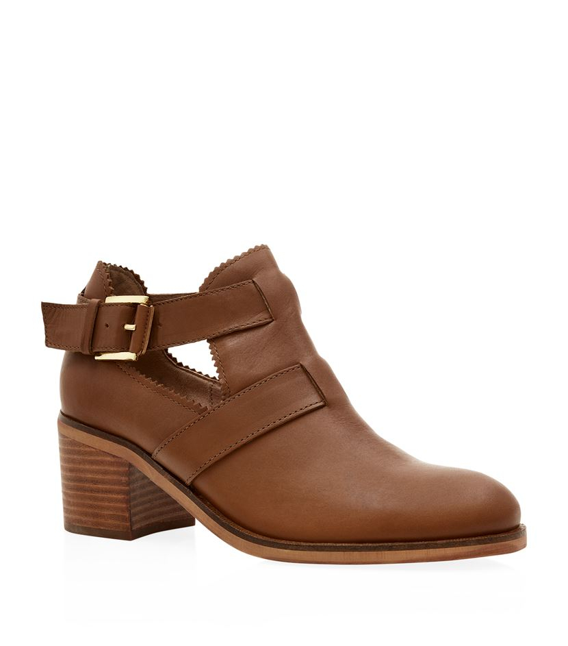 Carvela Kurt Geiger Serena Cut Out Ankle Boot In Brown Lyst