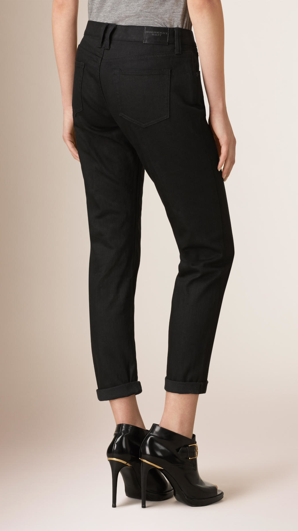 Skinny fit deep black jeans burberry