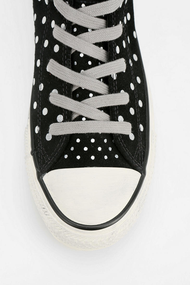 Lyst Urban Outfitters All Star Polka Dot Suede High Top