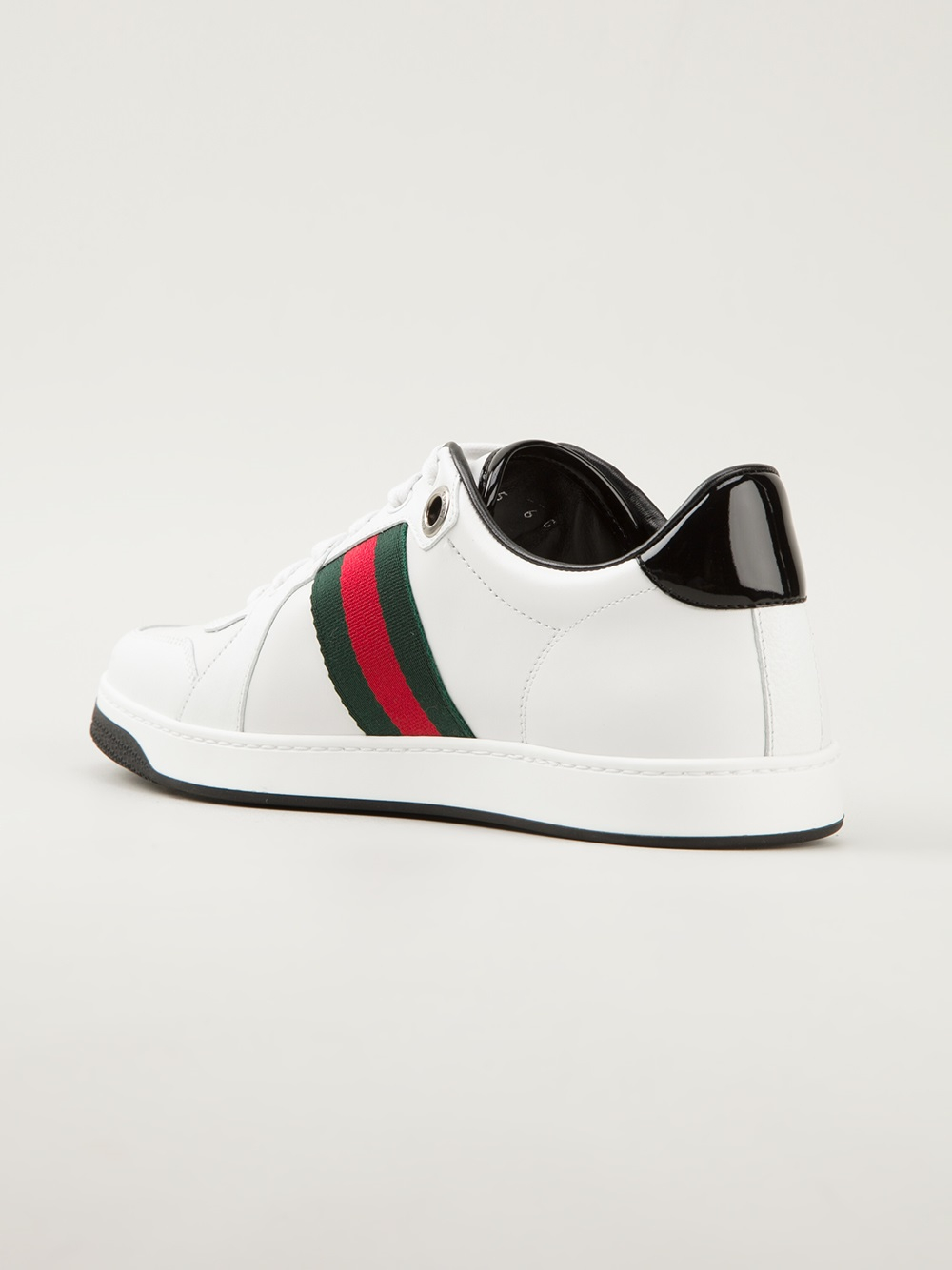 gucci signature striped sneakers in white for men lyst