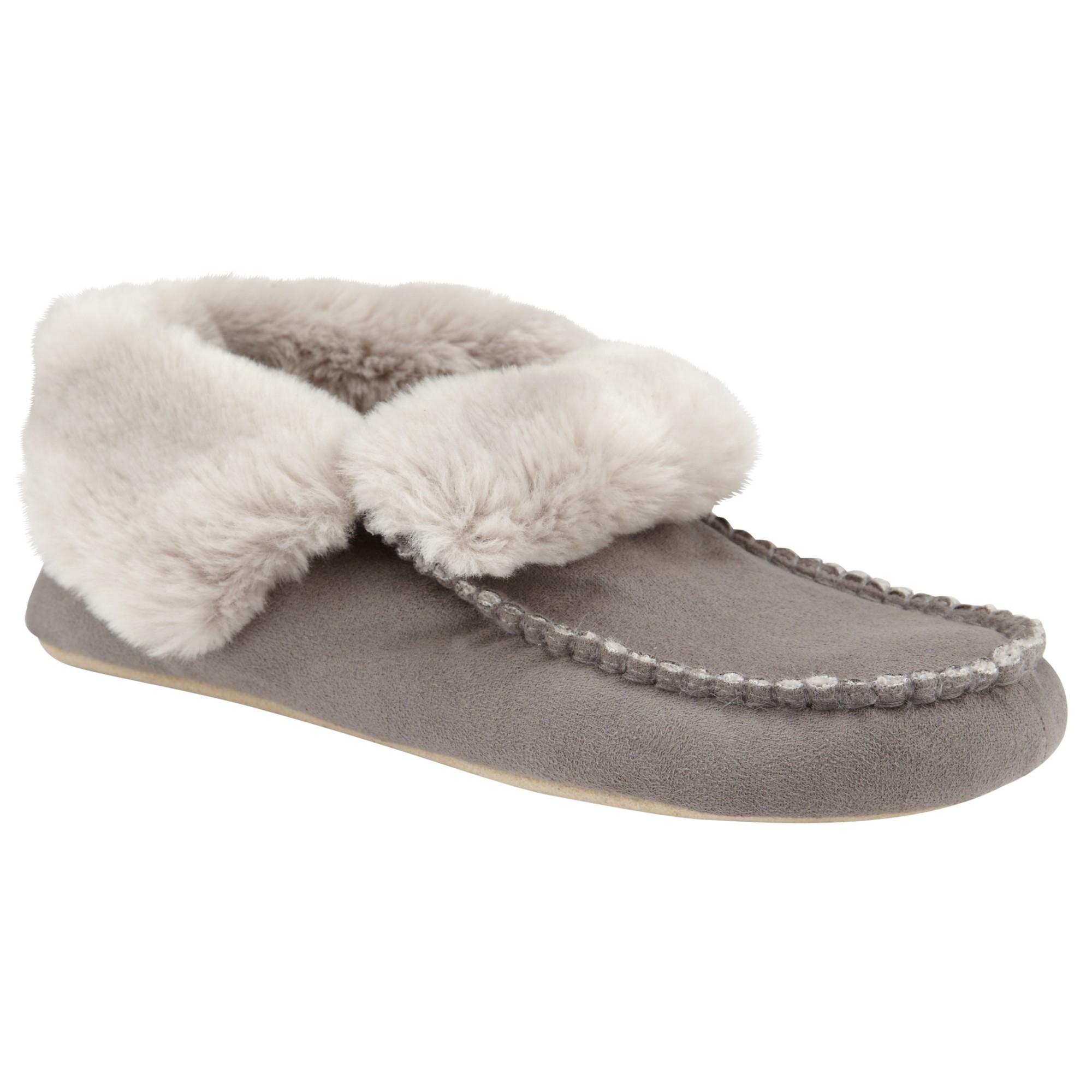 John Lewis Mimi Moc Bootie Slippers in Grey (Grey)