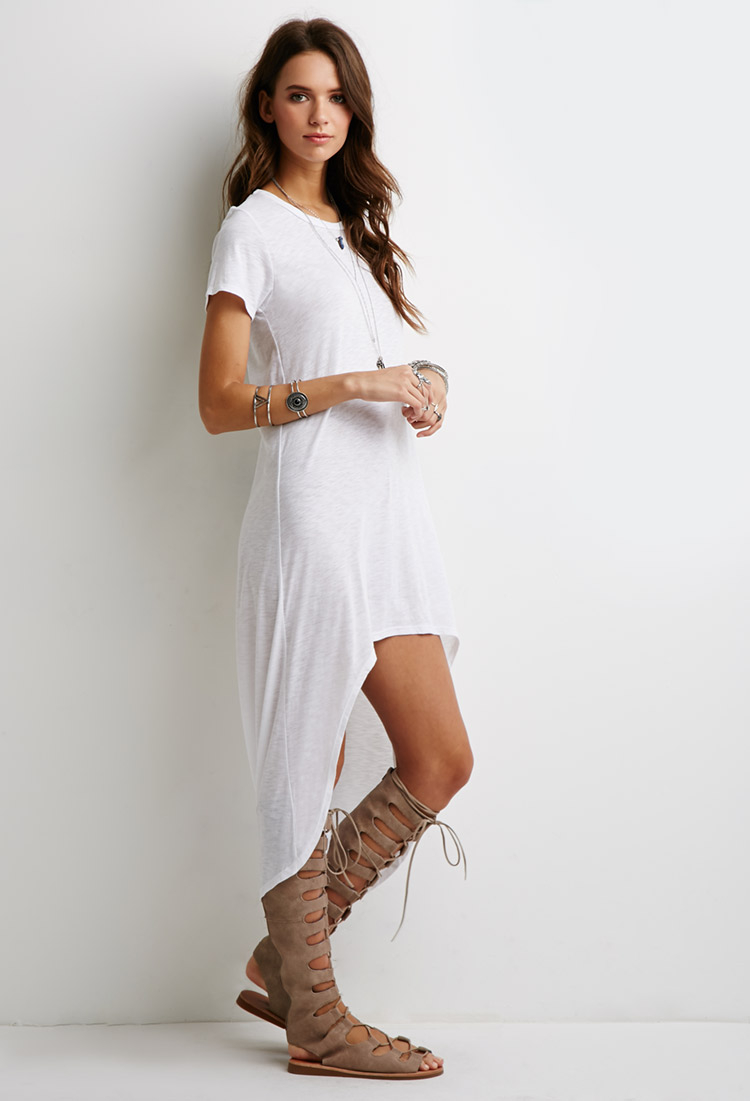 White t shirt dress outfit dress images for Dressy white t shirt
