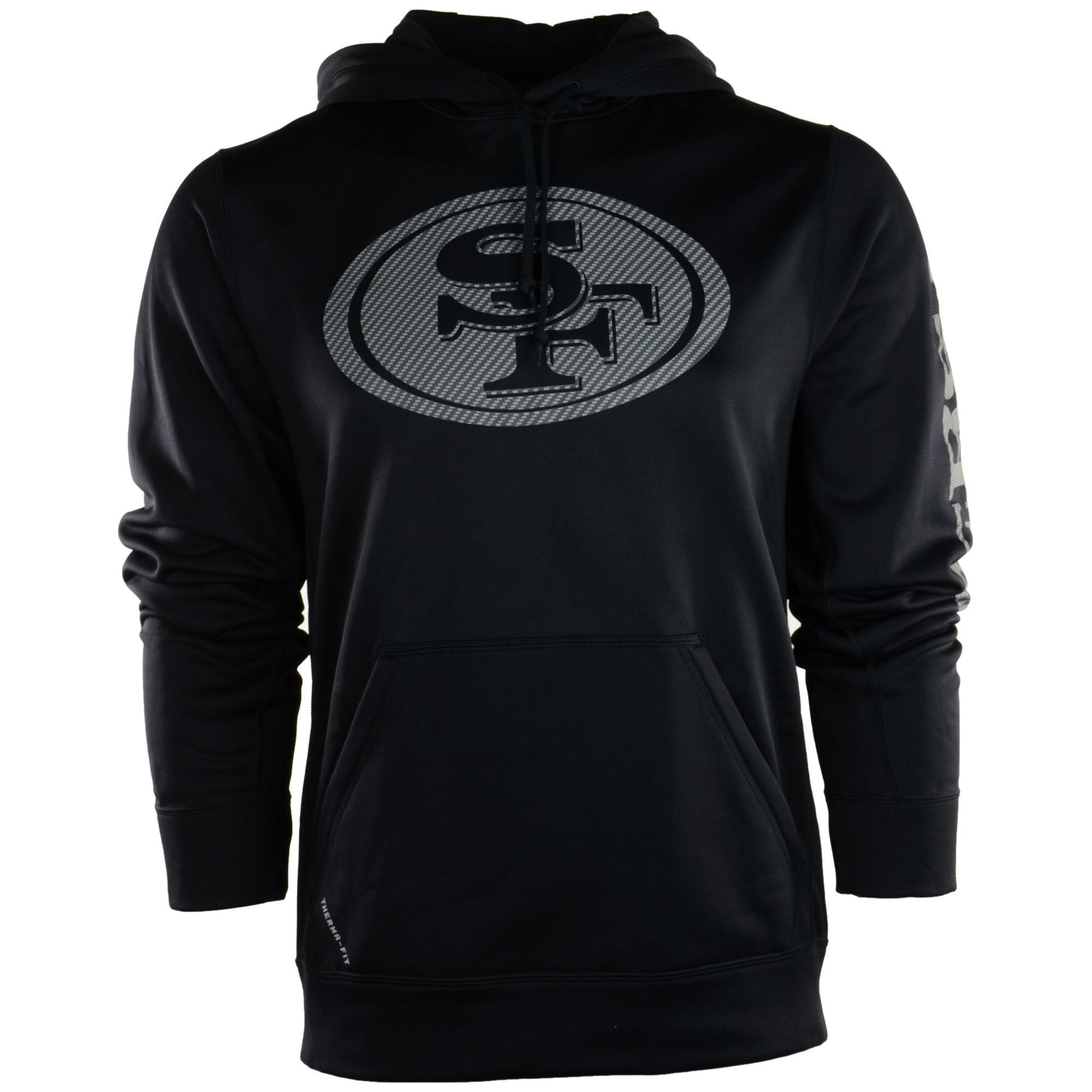 newest 6fe2e ecd1b black-49ers-hoodie