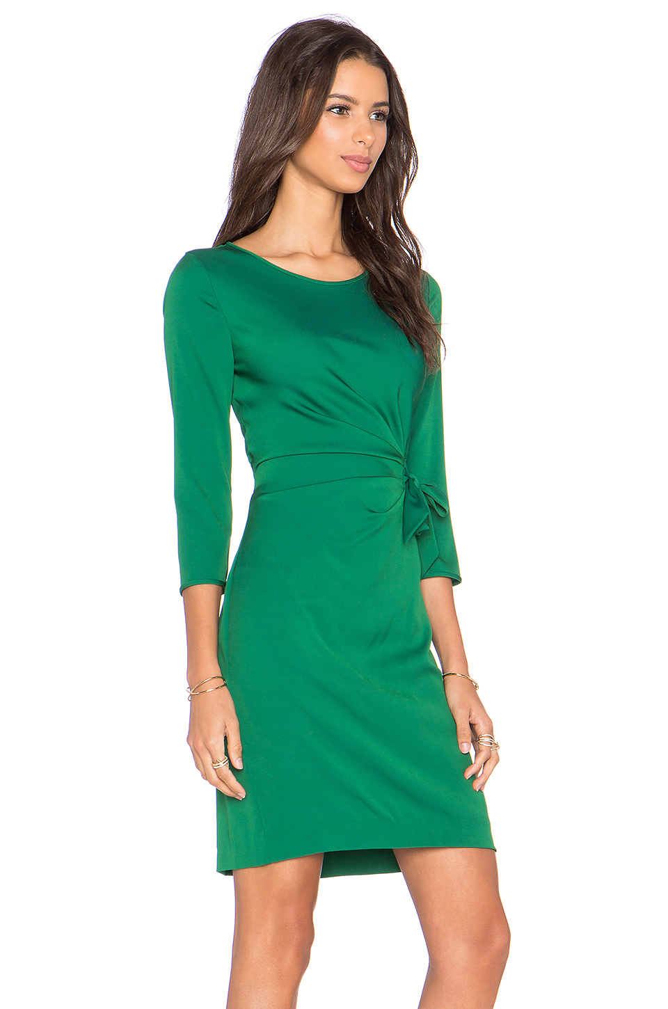 Lyst Diane Von Furstenberg Zoe Dress In Green
