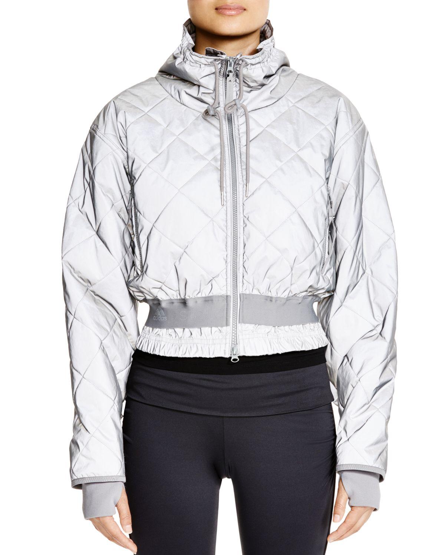 098da4ce8 adidas By Stella McCartney Quilted Jacket in Metallic - Lyst