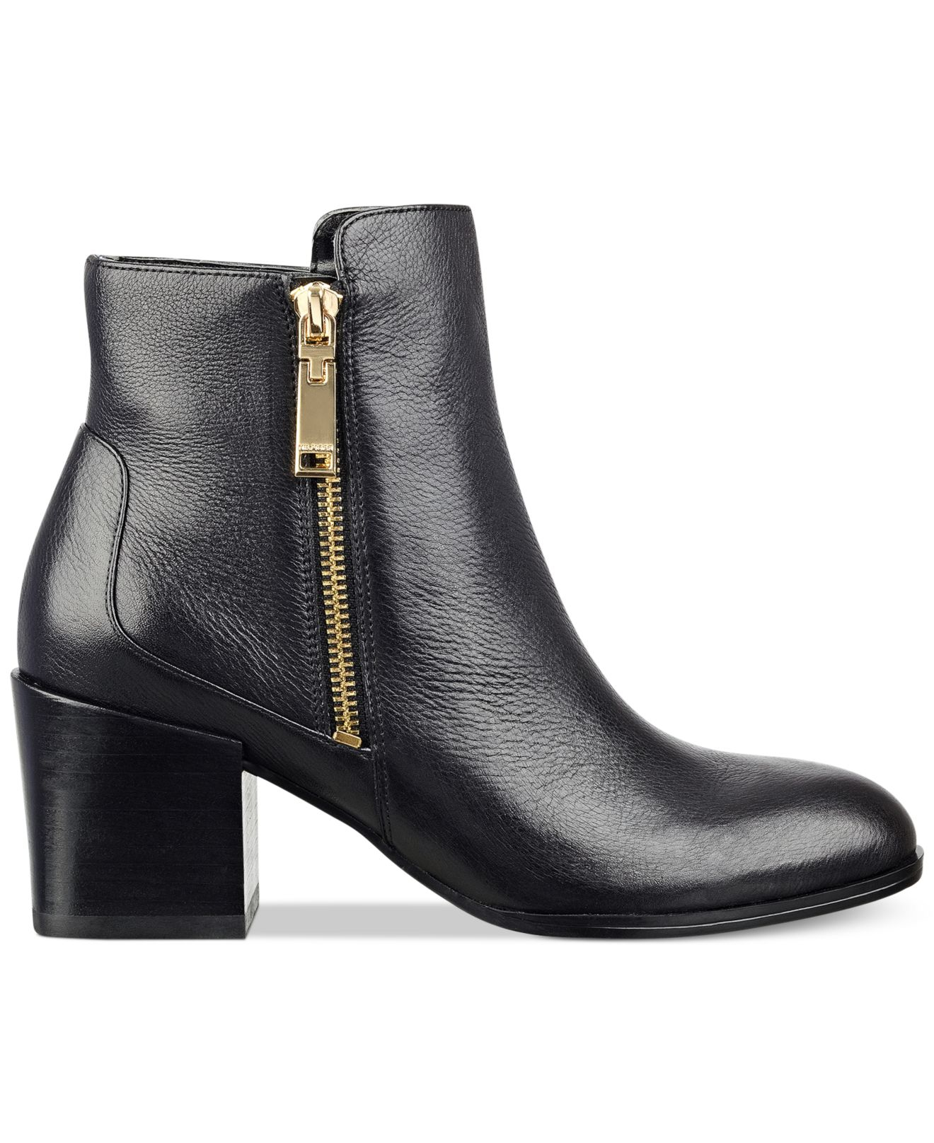 Tommy hilfiger Dita Booties in Black (Black Leather)   Lyst