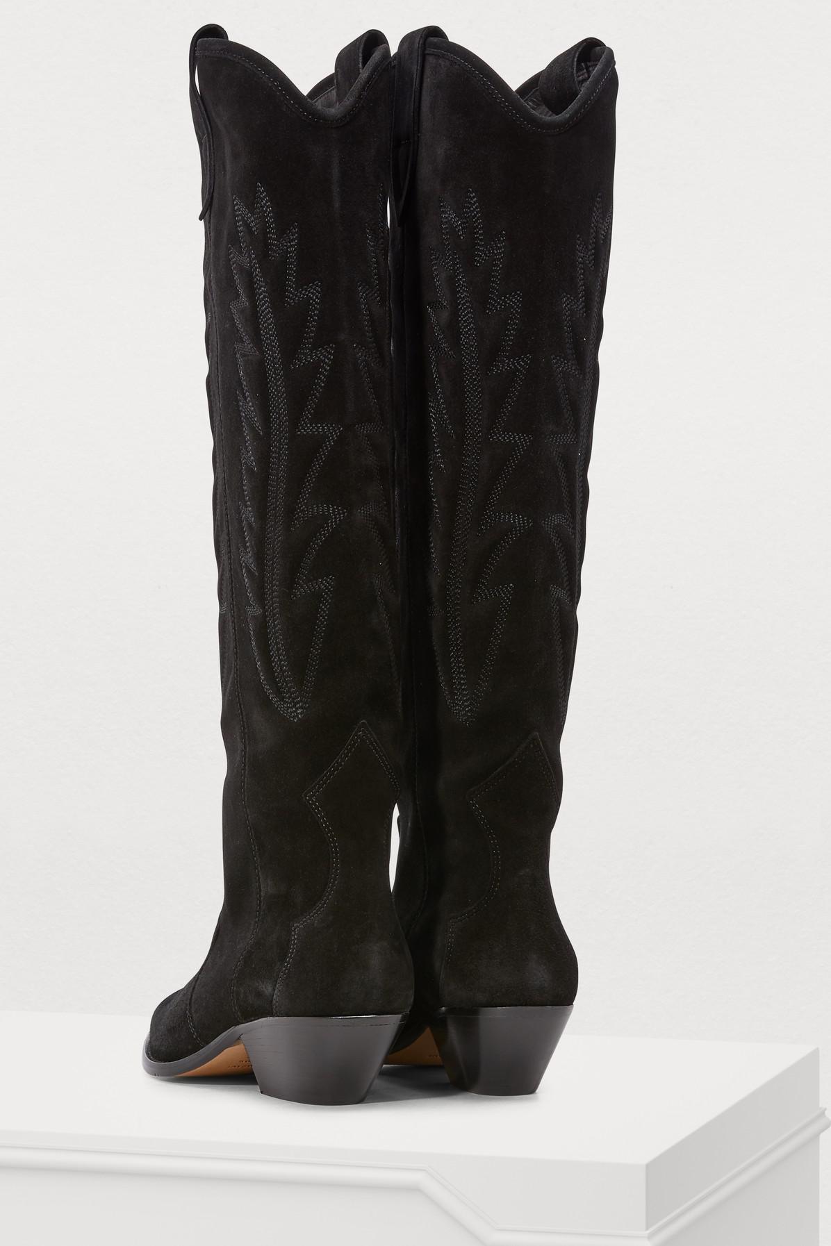 produit chaud bons plans sur la mode techniques modernes Santiags Denzy Jean Isabel Marant en coloris Noir - Lyst