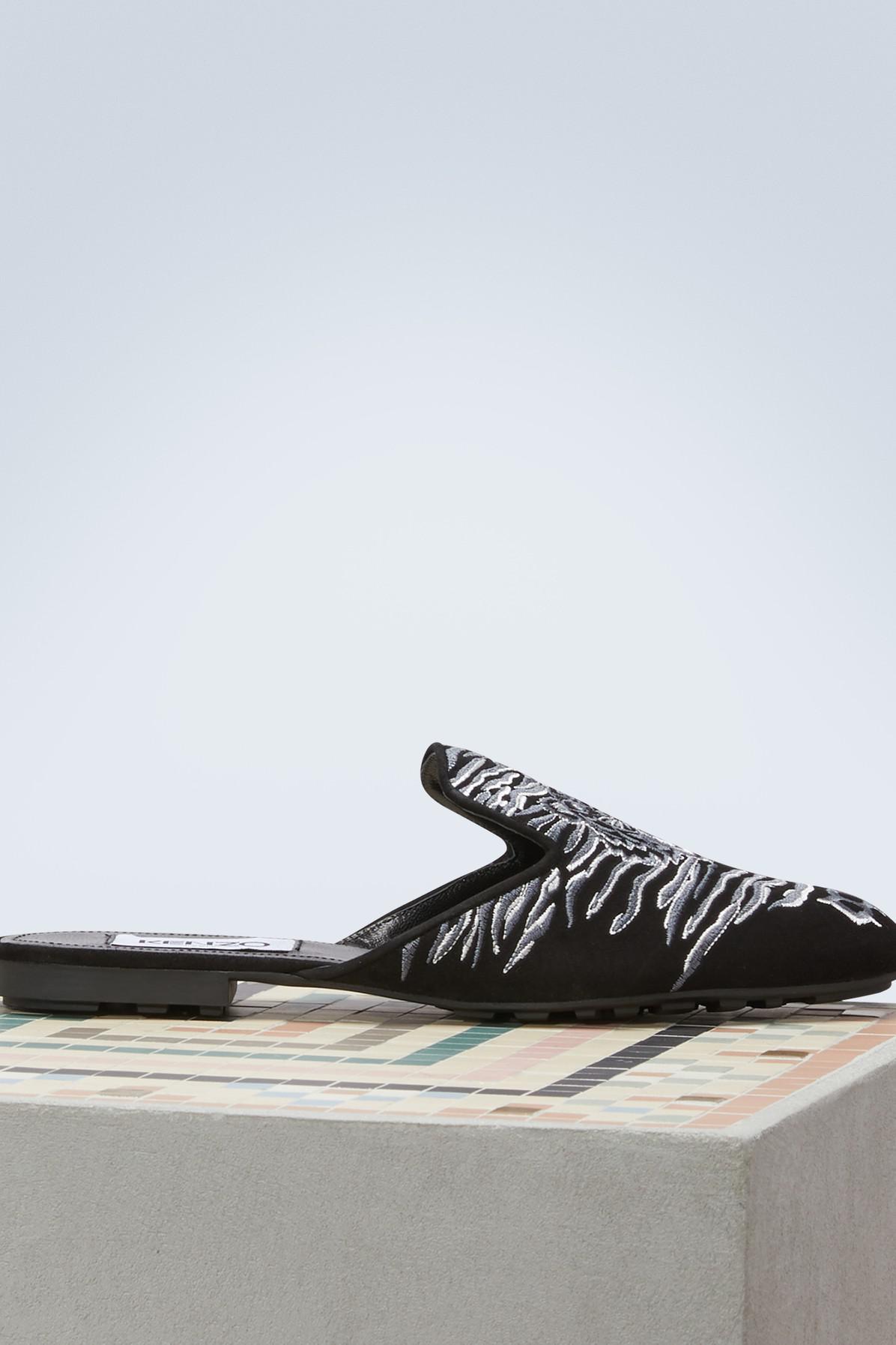 Kenzo Mules tête de Tigre en cuir Jeu Profiter Vente Pas Cher Édition Limitée Grande Vente Profitez Pas Cher En Ligne 99MWFn0c