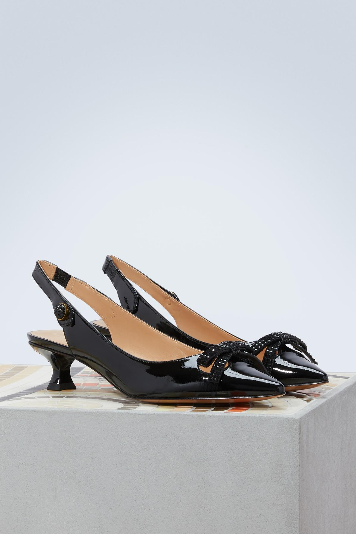 8cc4864e5ca Lyst - Marc Jacobs Abbey Slingback Pump in Black